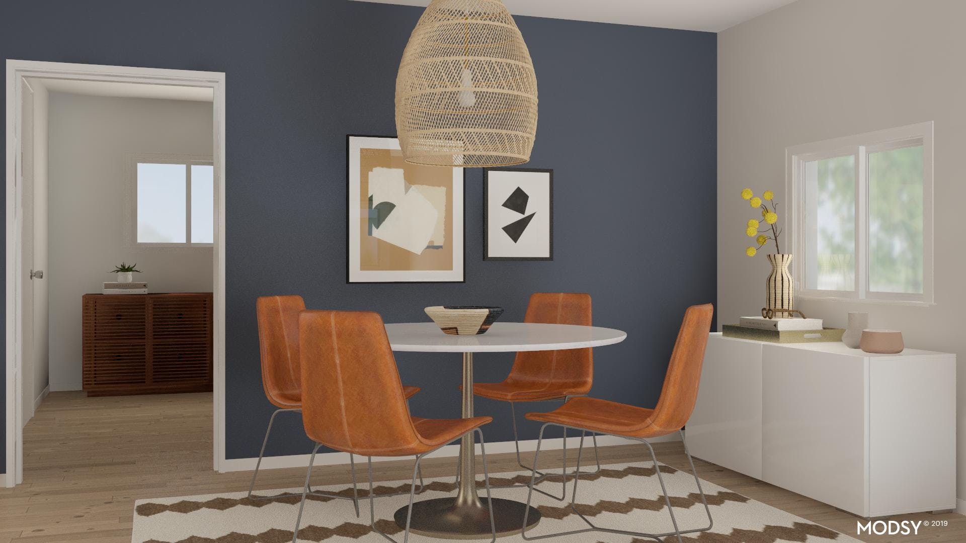 A Simple, Modern Dining Room