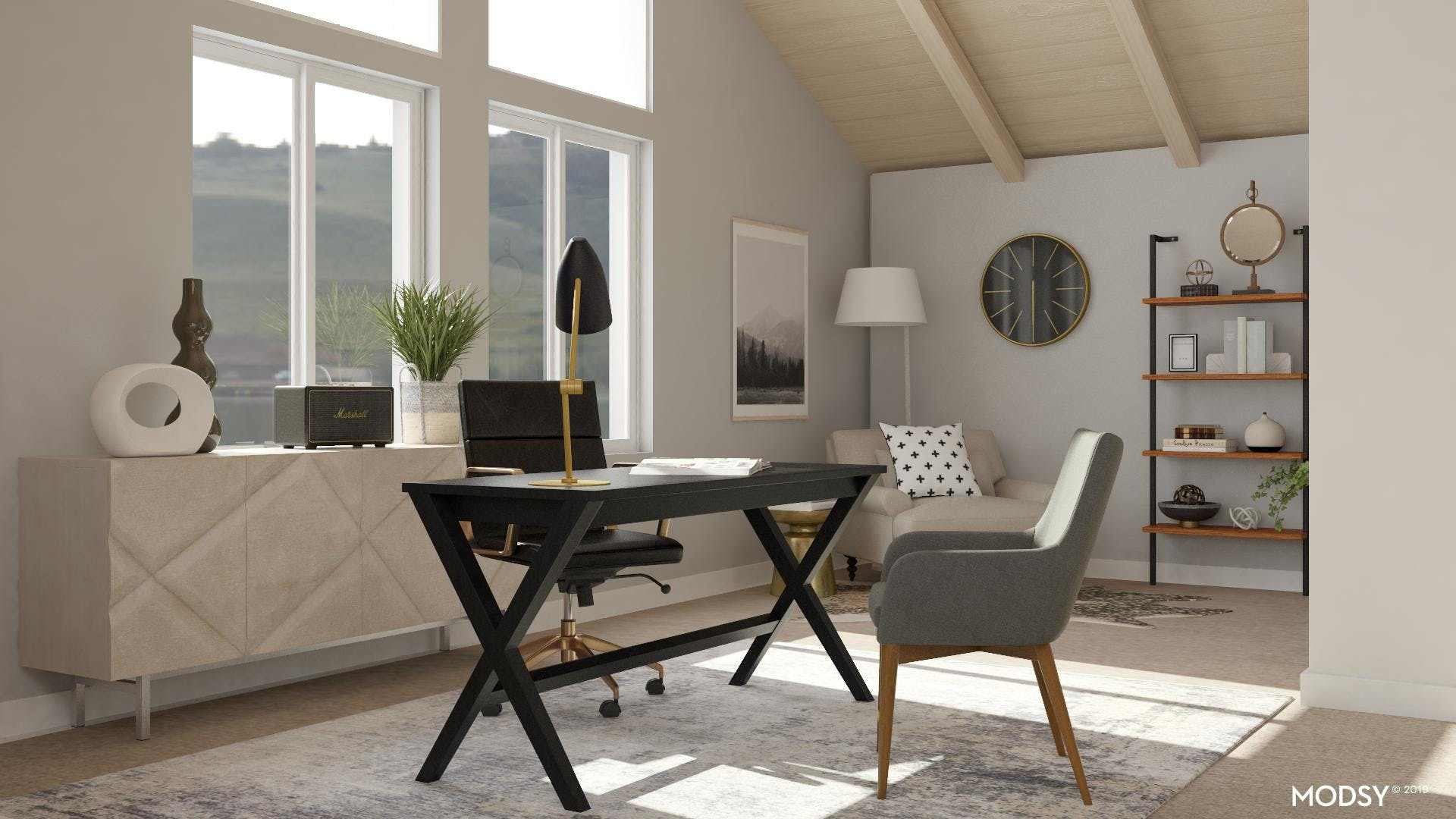 Black and White Transitional Office