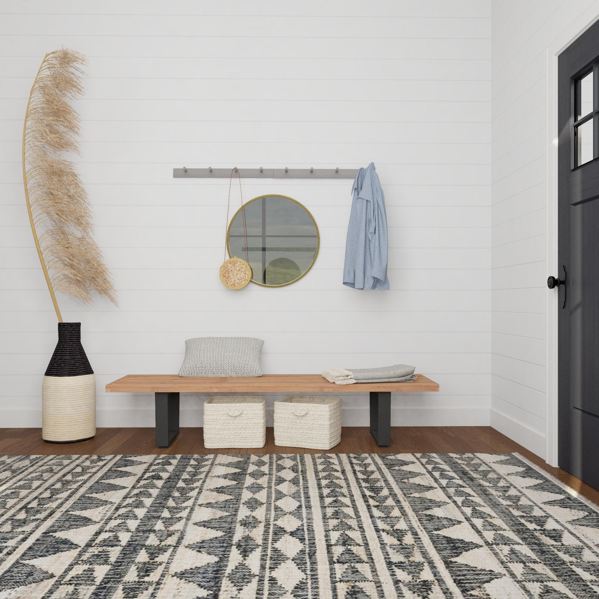 A Scandi-Inspired Entryway