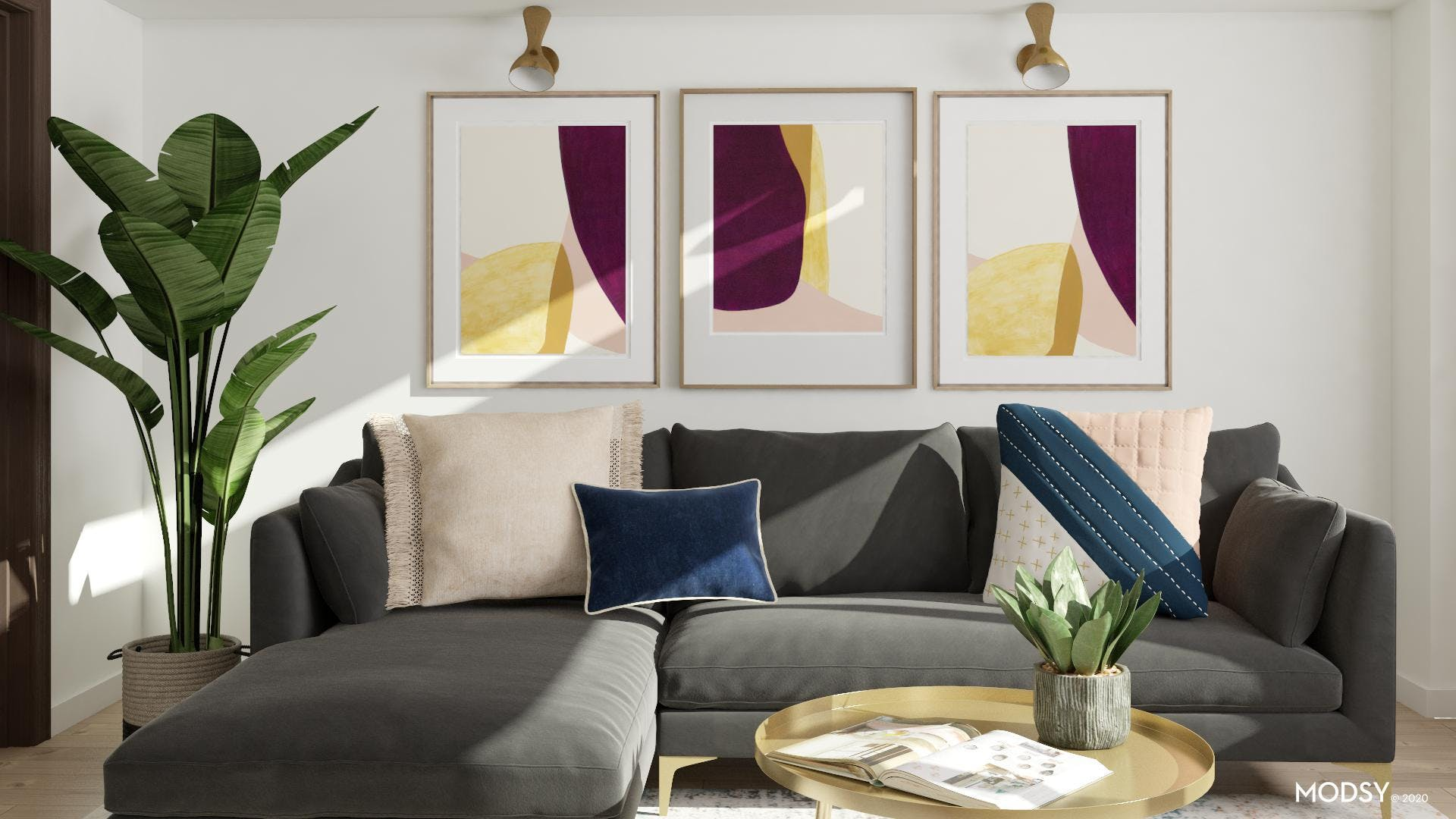 Look For Less: Glam Living Room