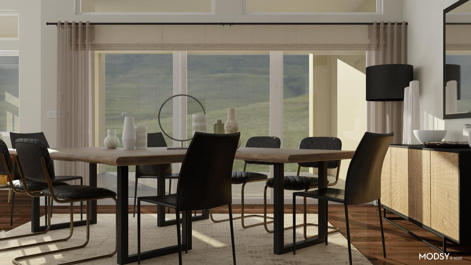 Uniqueness In Neutral: Industrial Dining Room