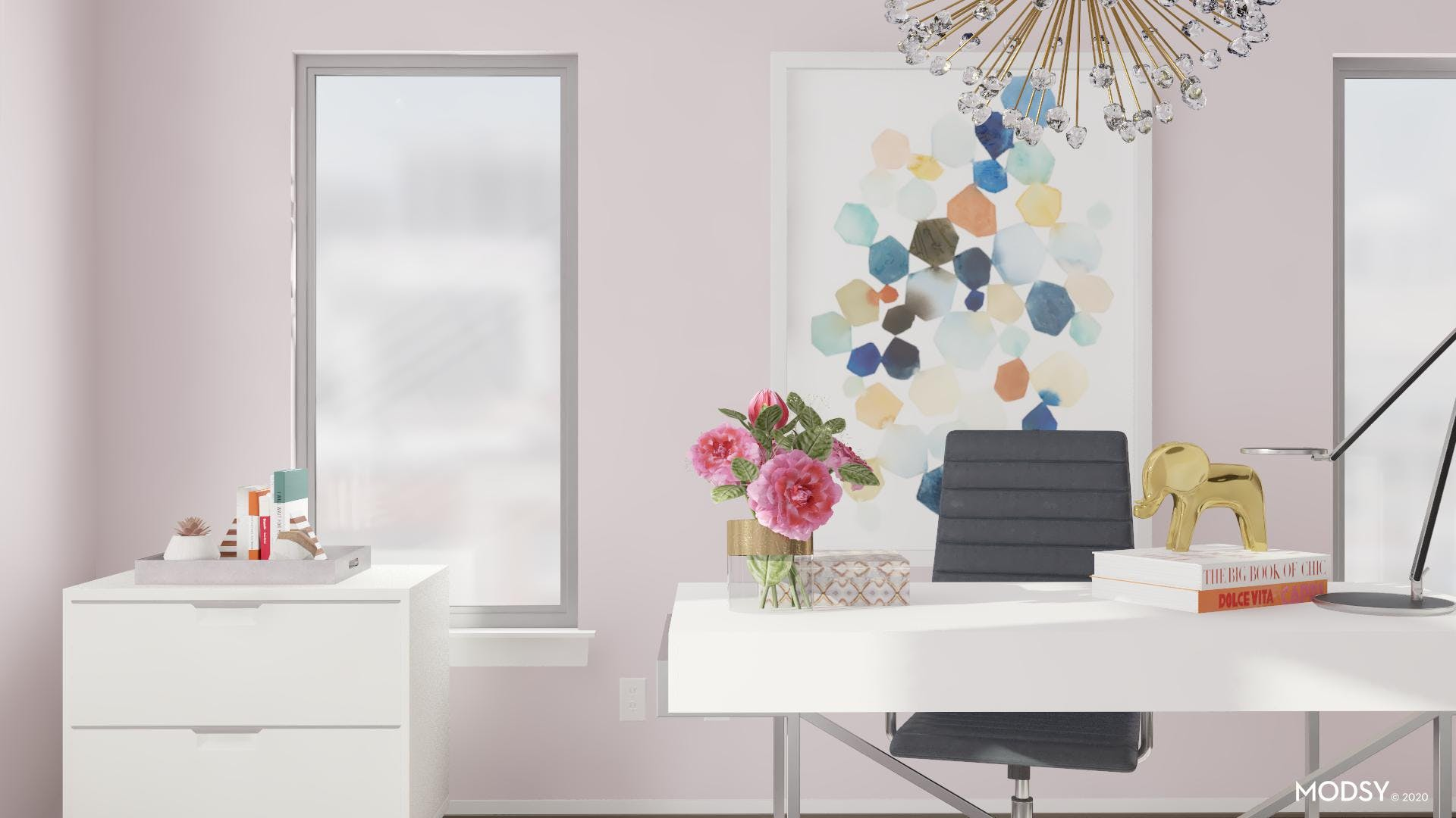 Pastel Inspired Home Office
