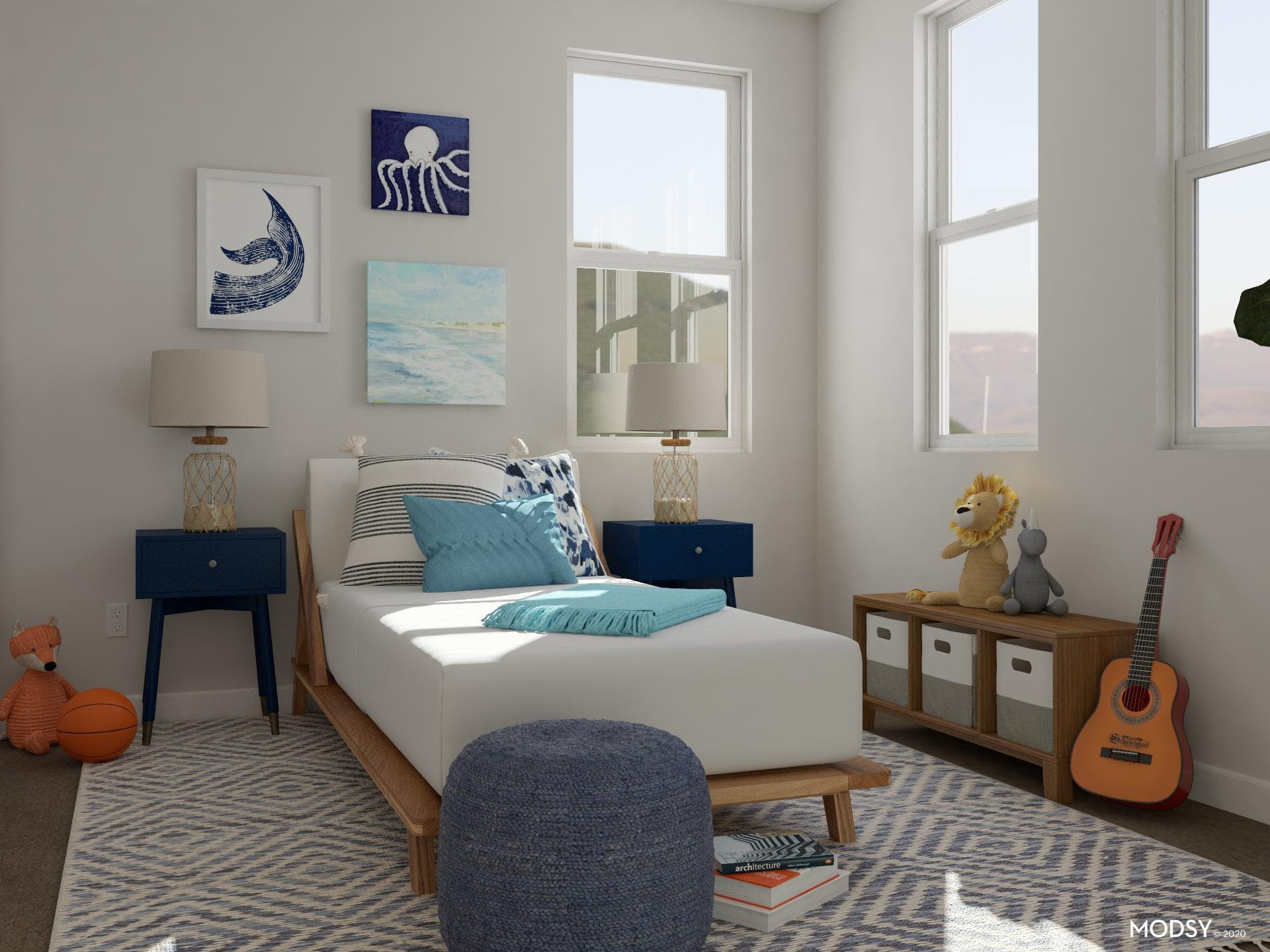 Blue Beachy Room for Kids