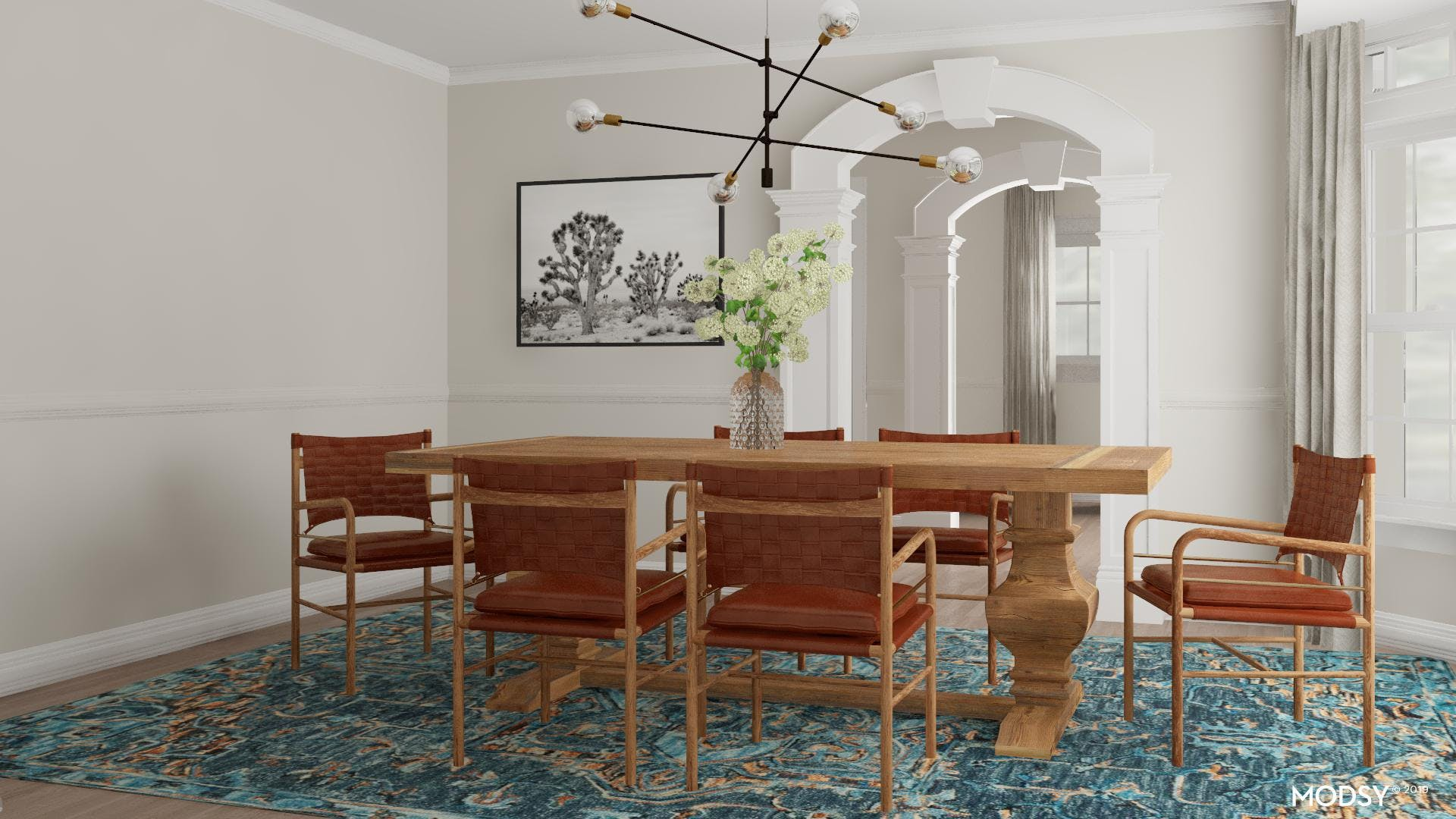 Eclectic Mid-Century Dining Room