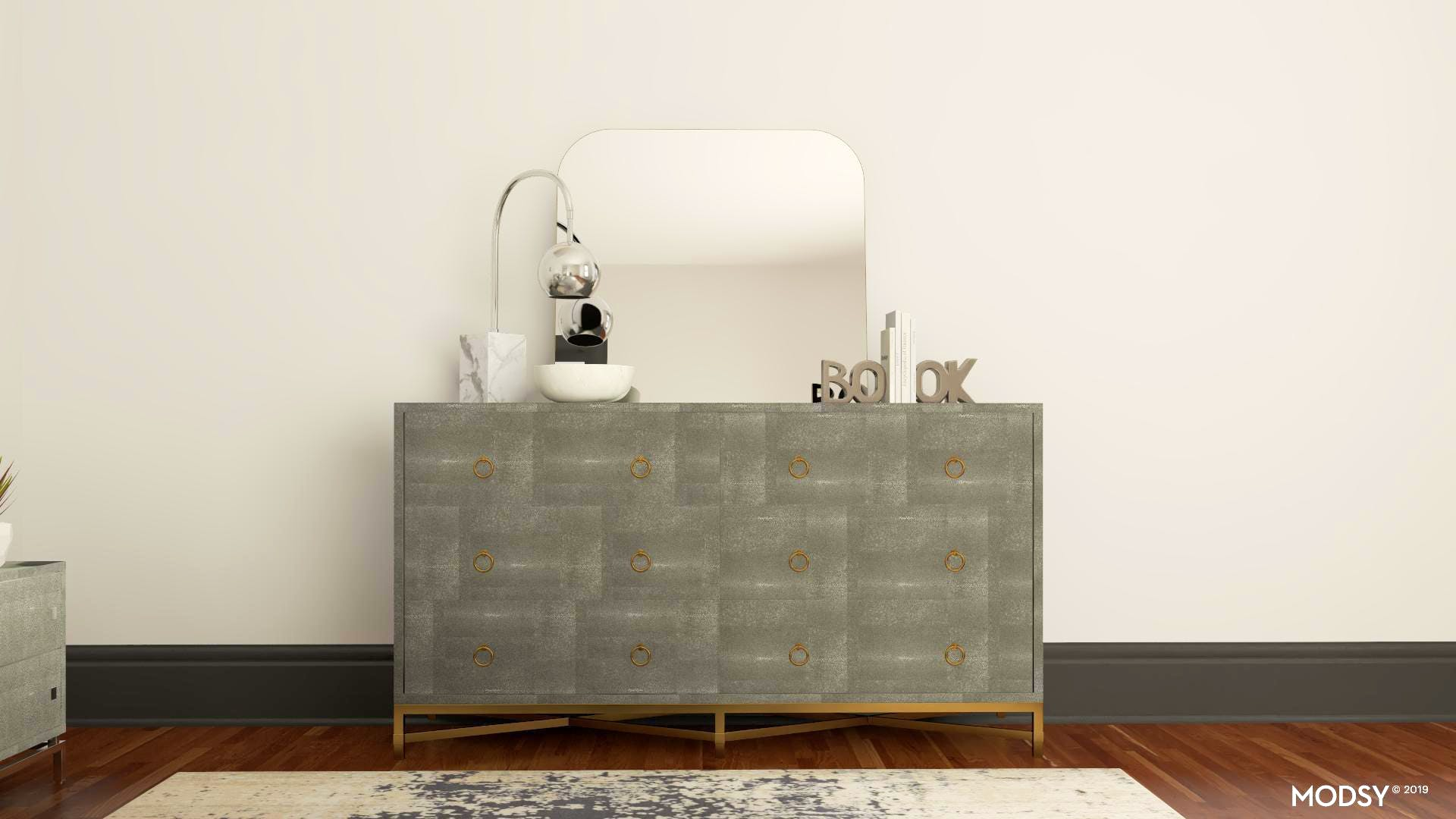 Neutral Modern Dresser Styling