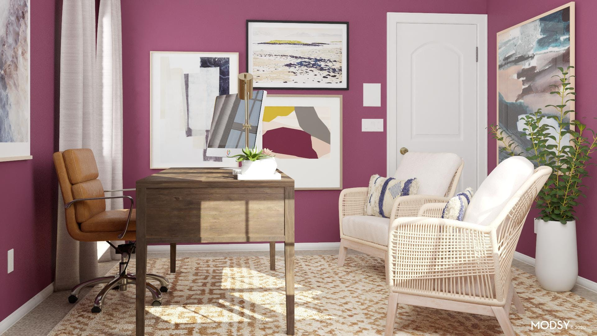 Textured Delight Eclectic Home Office