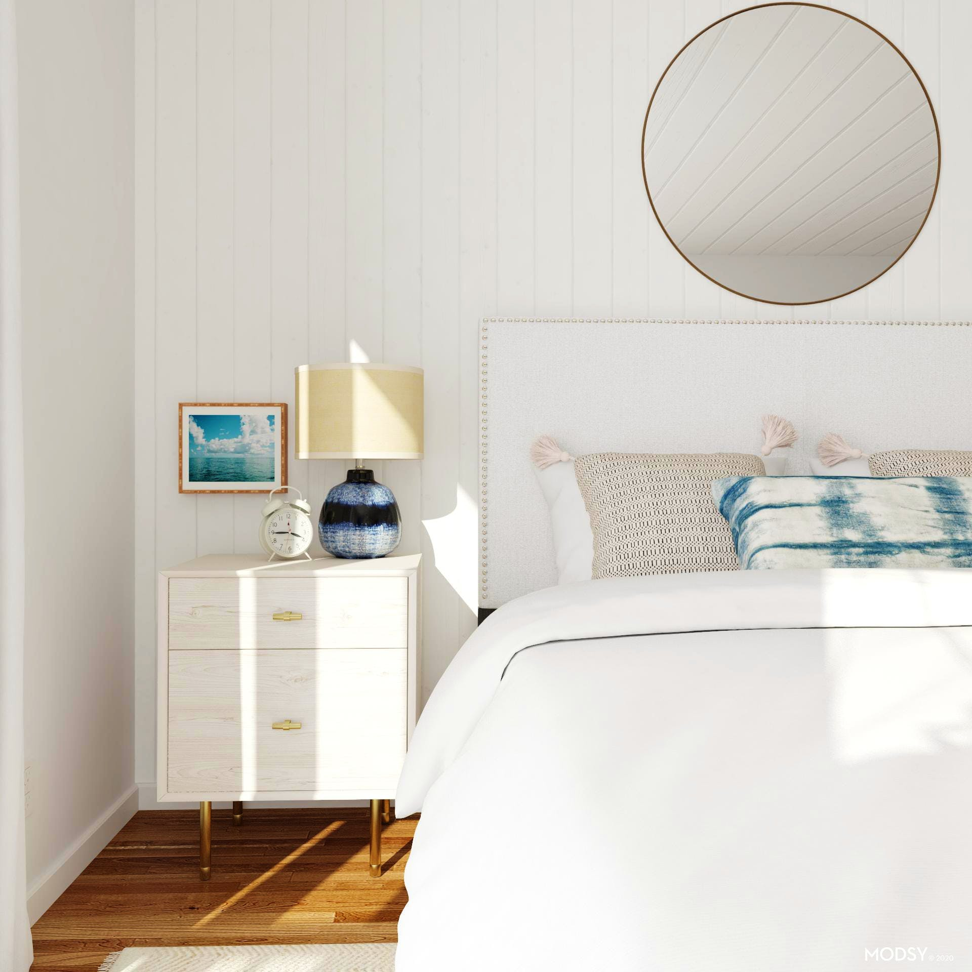 We Adore The Shibori in This Mid-Century Bedroom