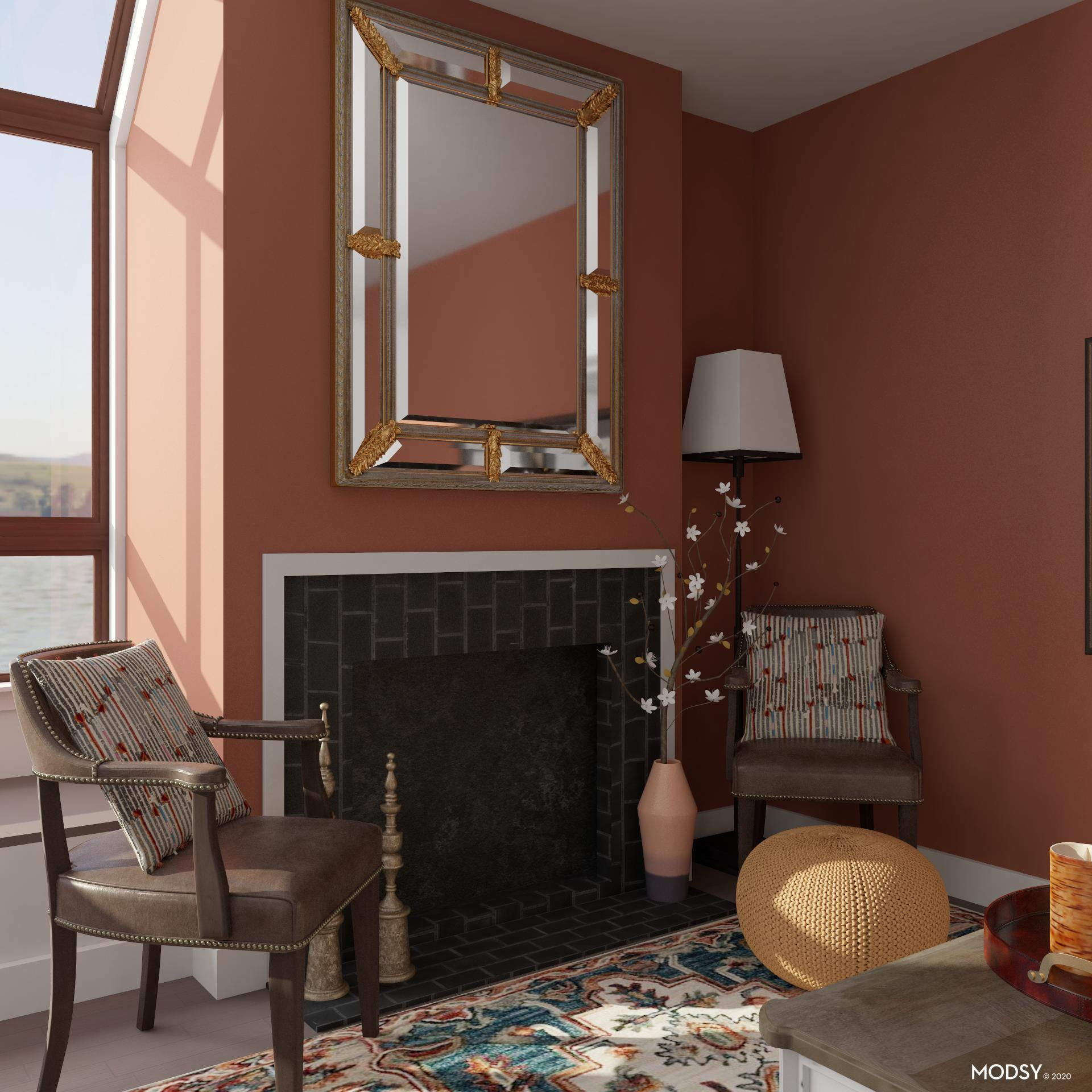 Simple Fireplace Gets Dressed Up