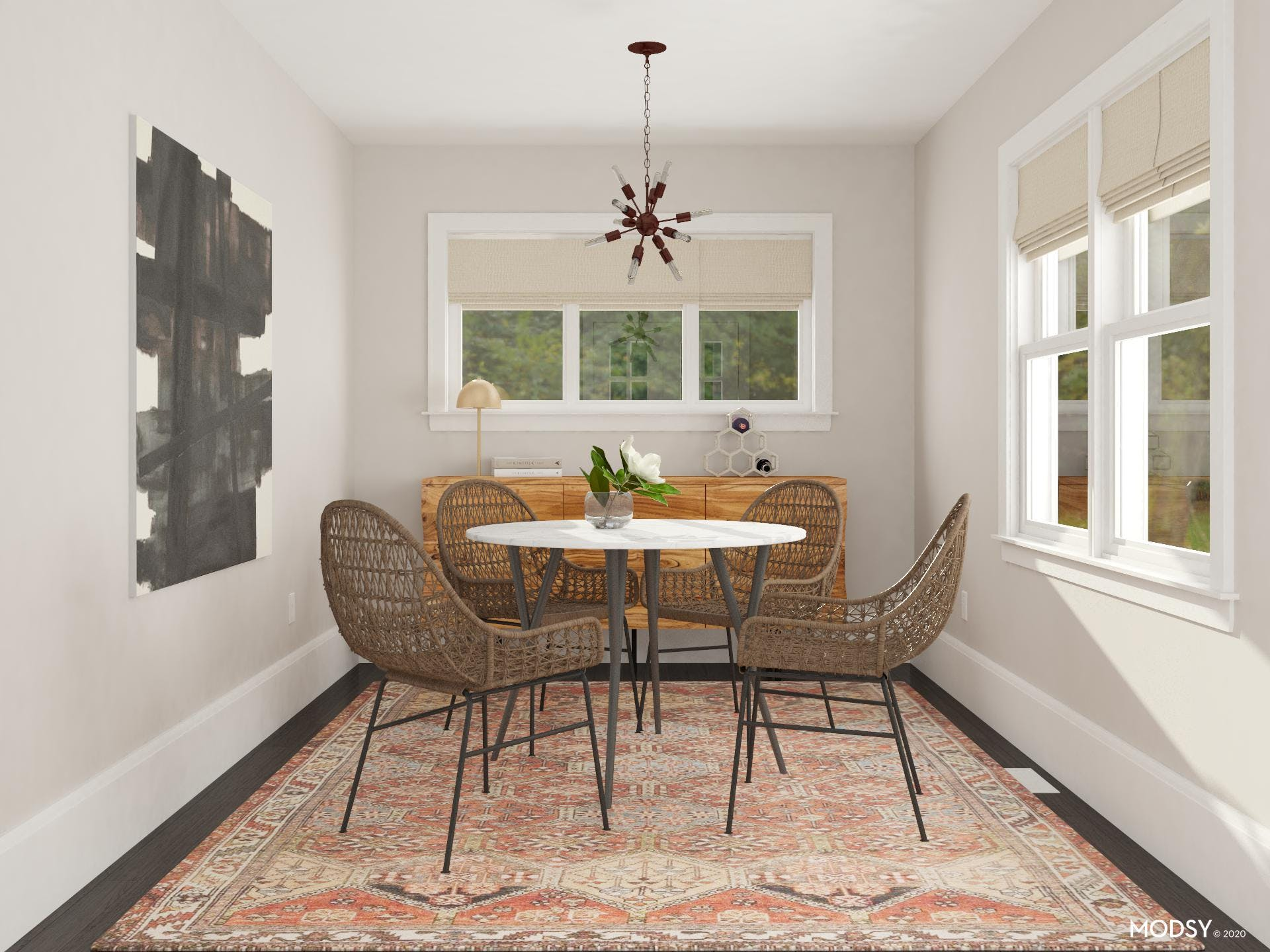 Small Dining Room with Big Mid-Century-Modern Style