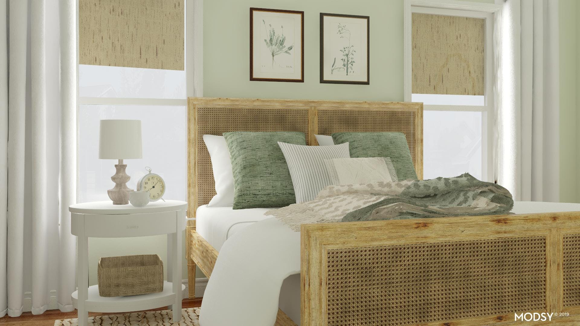 Classic bedroom with a green twist