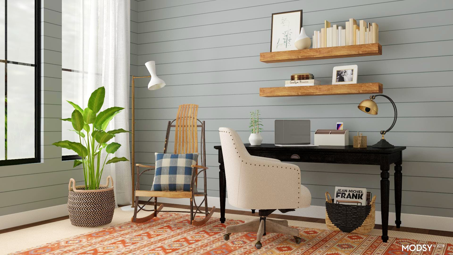 Traditional Rustic Office