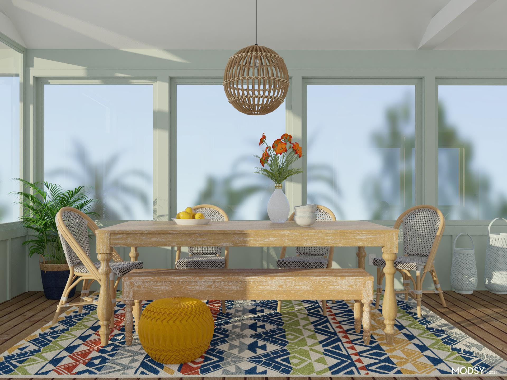 Colorful Summertime Dining