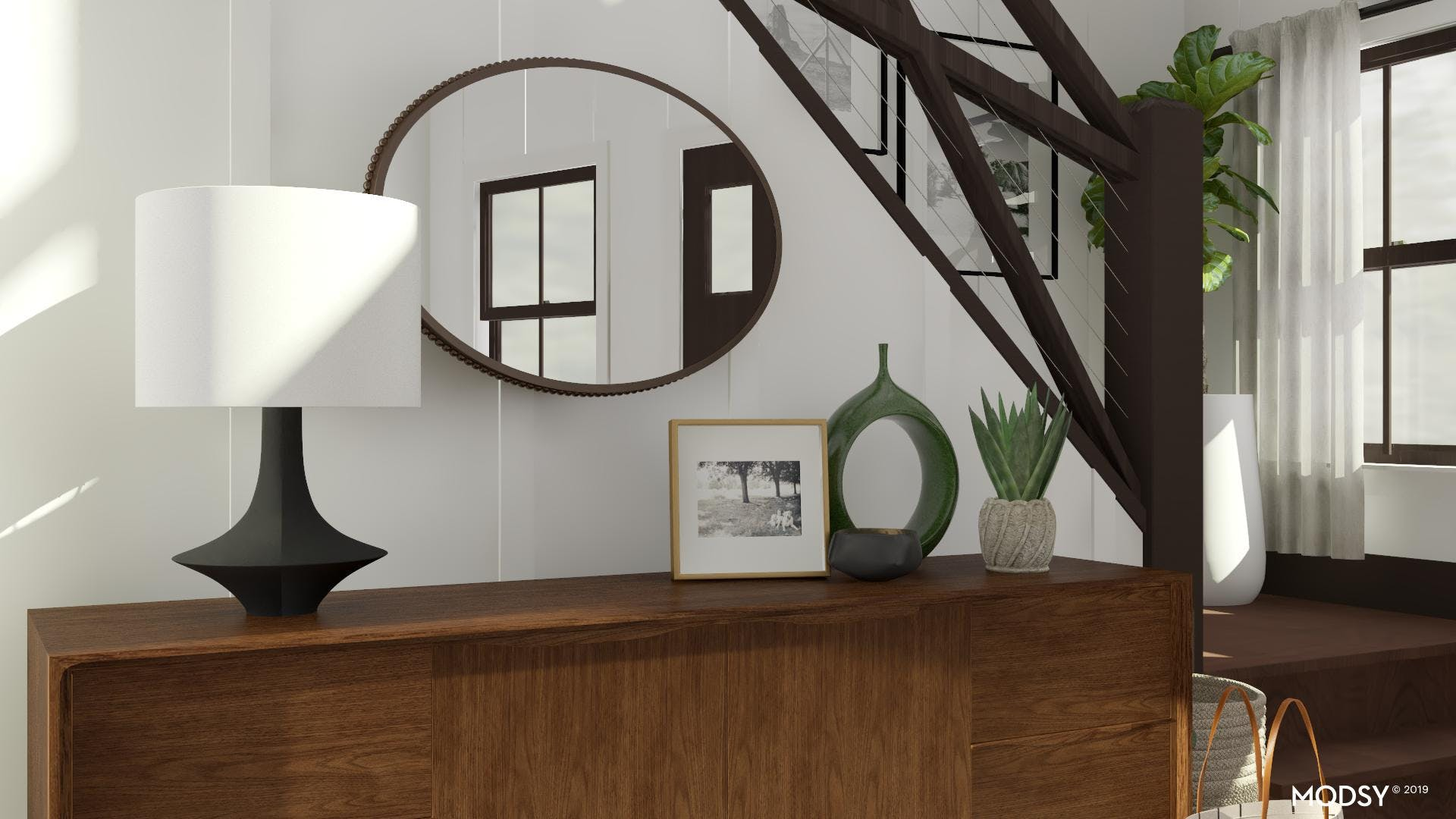 A Warm And Inviting Mid-Century Entryway