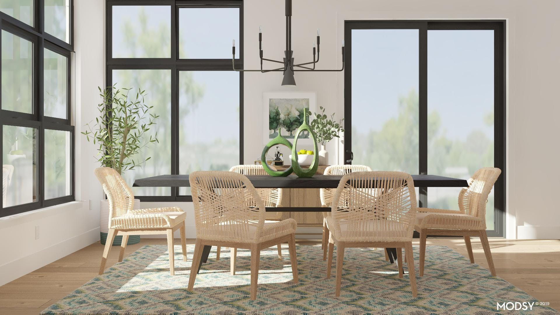 Large Dining Room Draws You In With Modern Touches