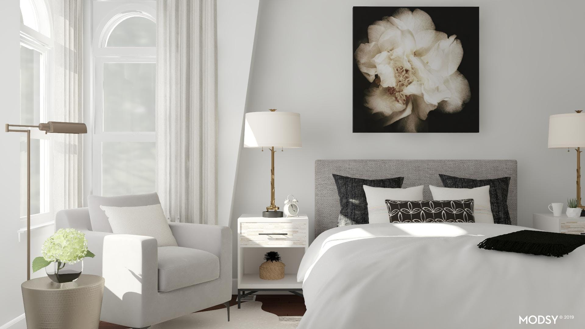 Bold Neutral Bedroom