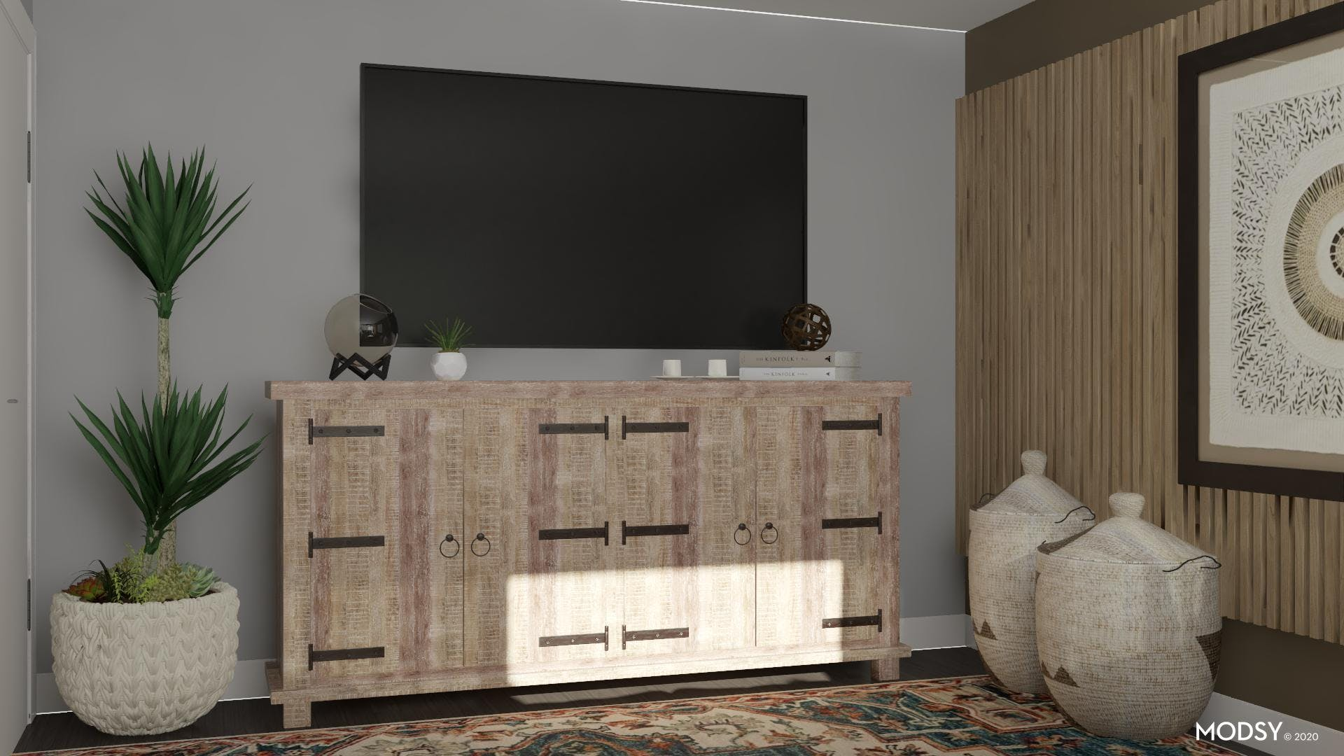 Rustic Reclaimed Touches: Living Room
