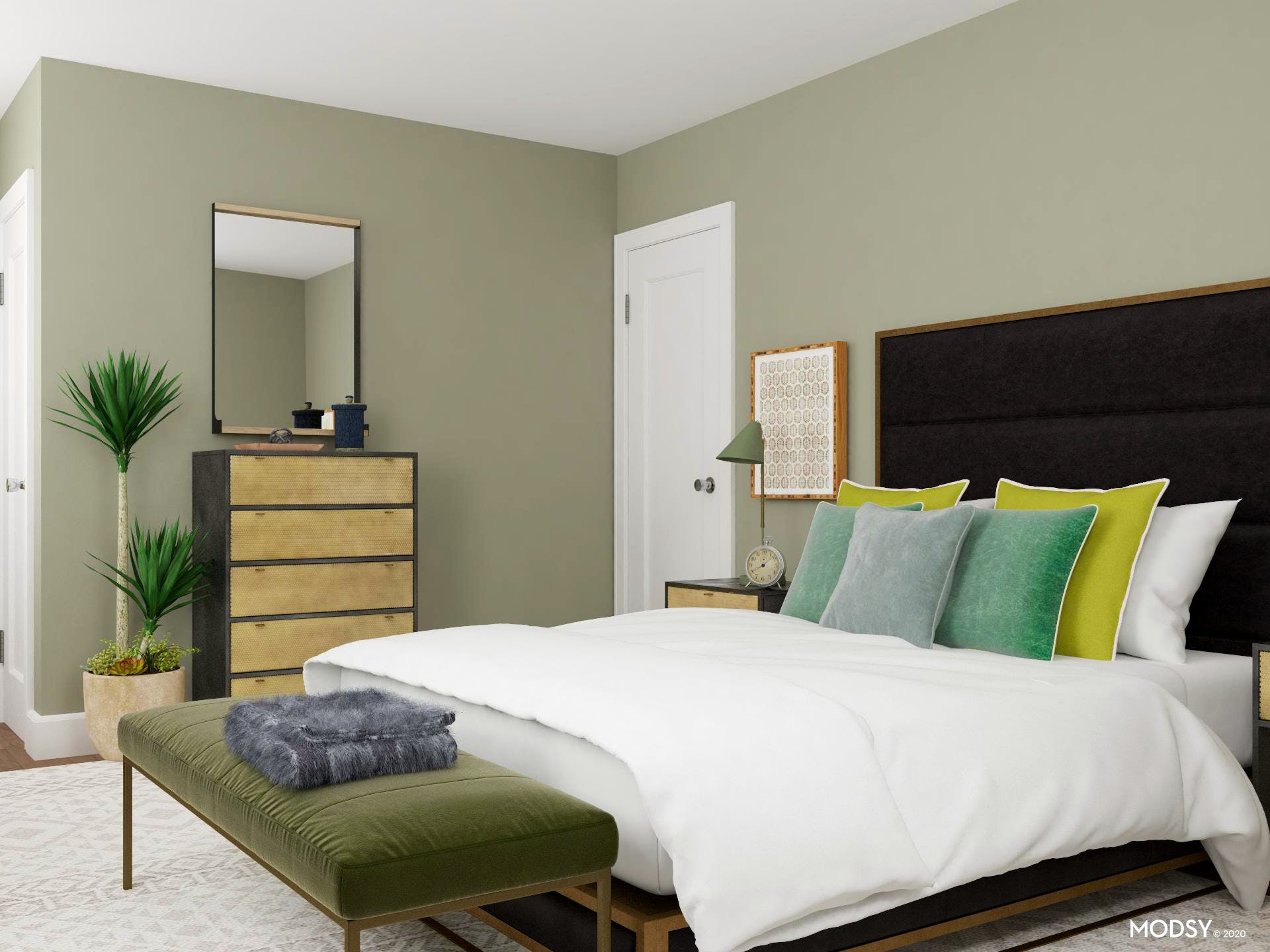 Green Is The New Neutral: Bedroom Design