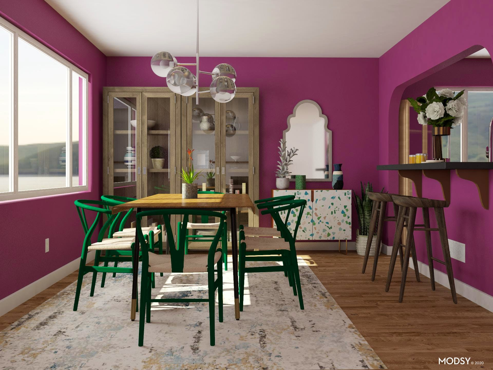 Unexpected Jewel Tones: Dining Room Edition | Coastal ...