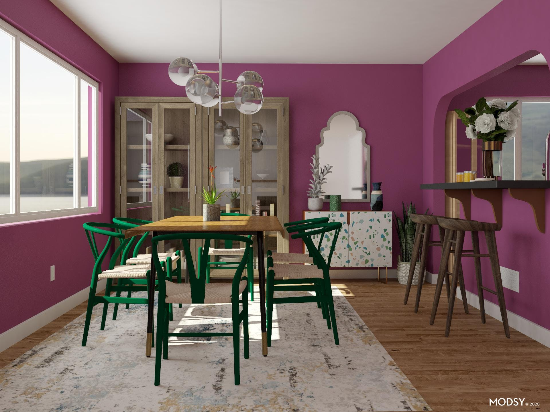 Unexpected Jewel Tones: Dining Room Edition