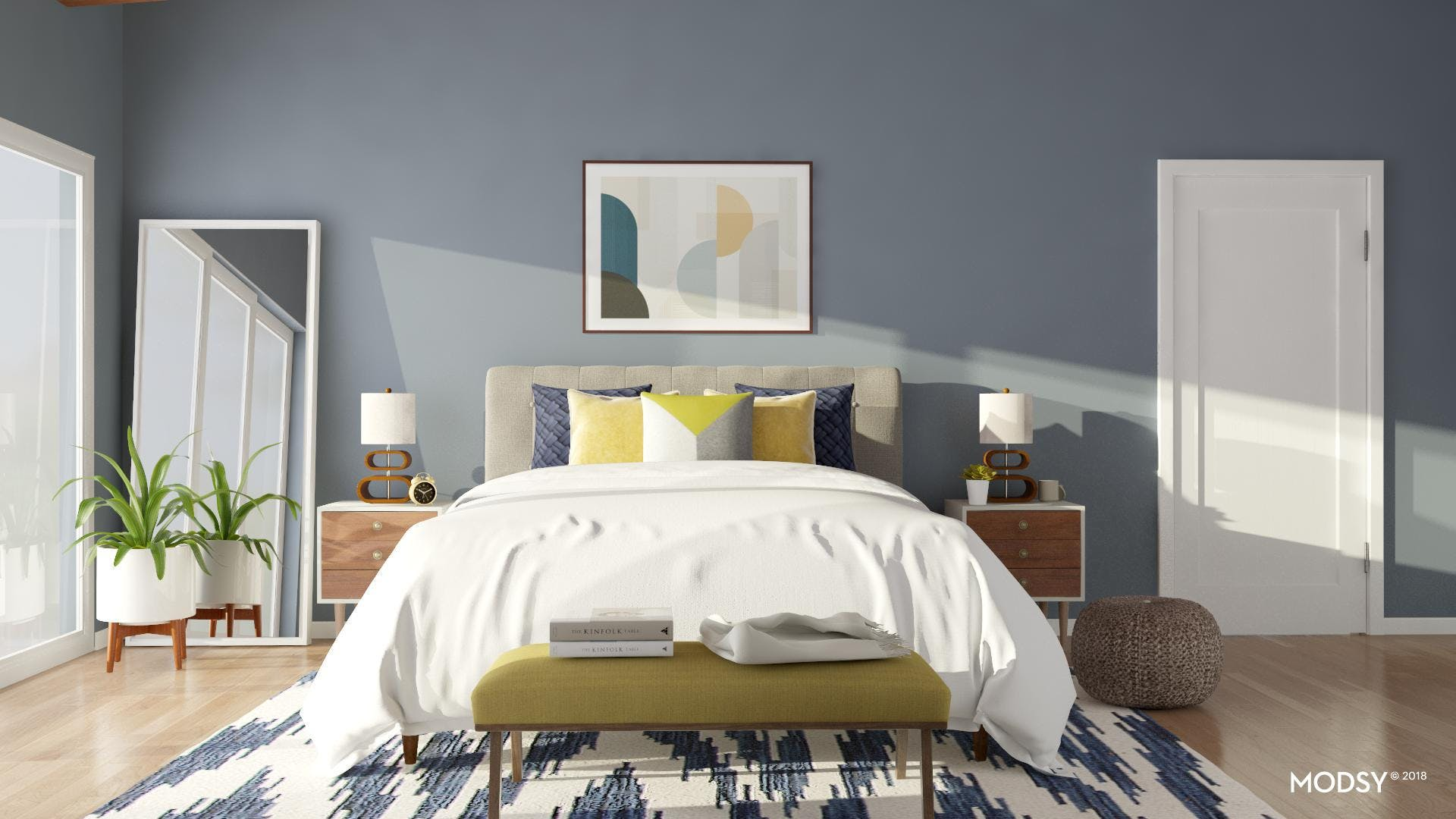 A Bright And Relaxed Modern Bedroom
