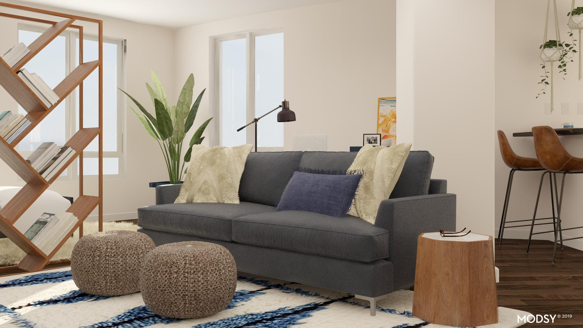 Modern Living Room With A Soft Touch