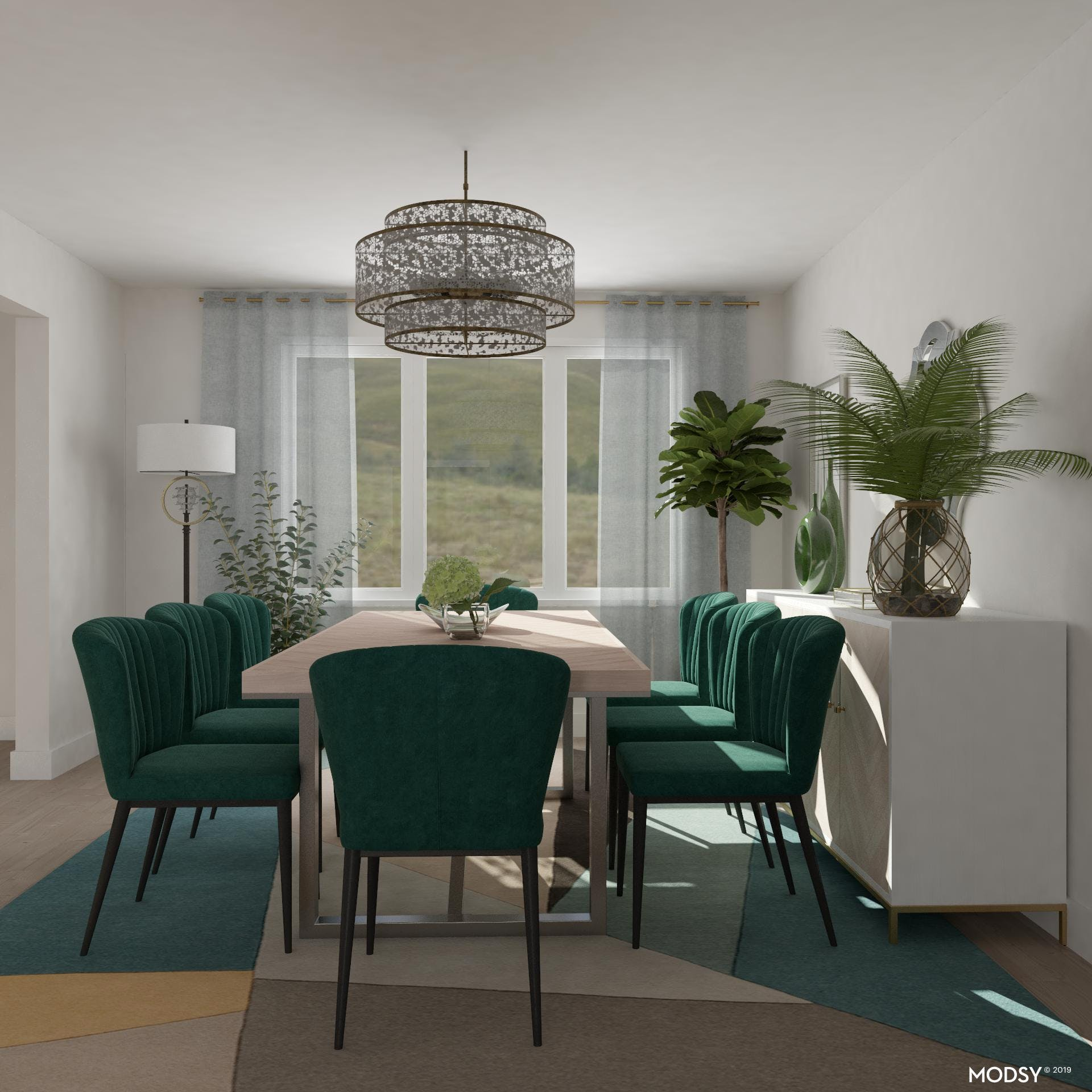 Bold Green Dining Chairs