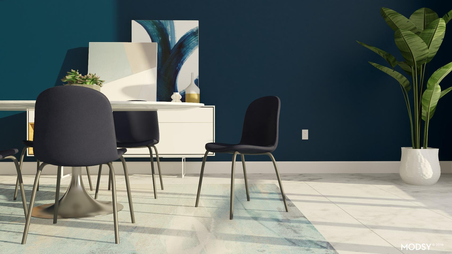 Cohesive Modern Dining Room