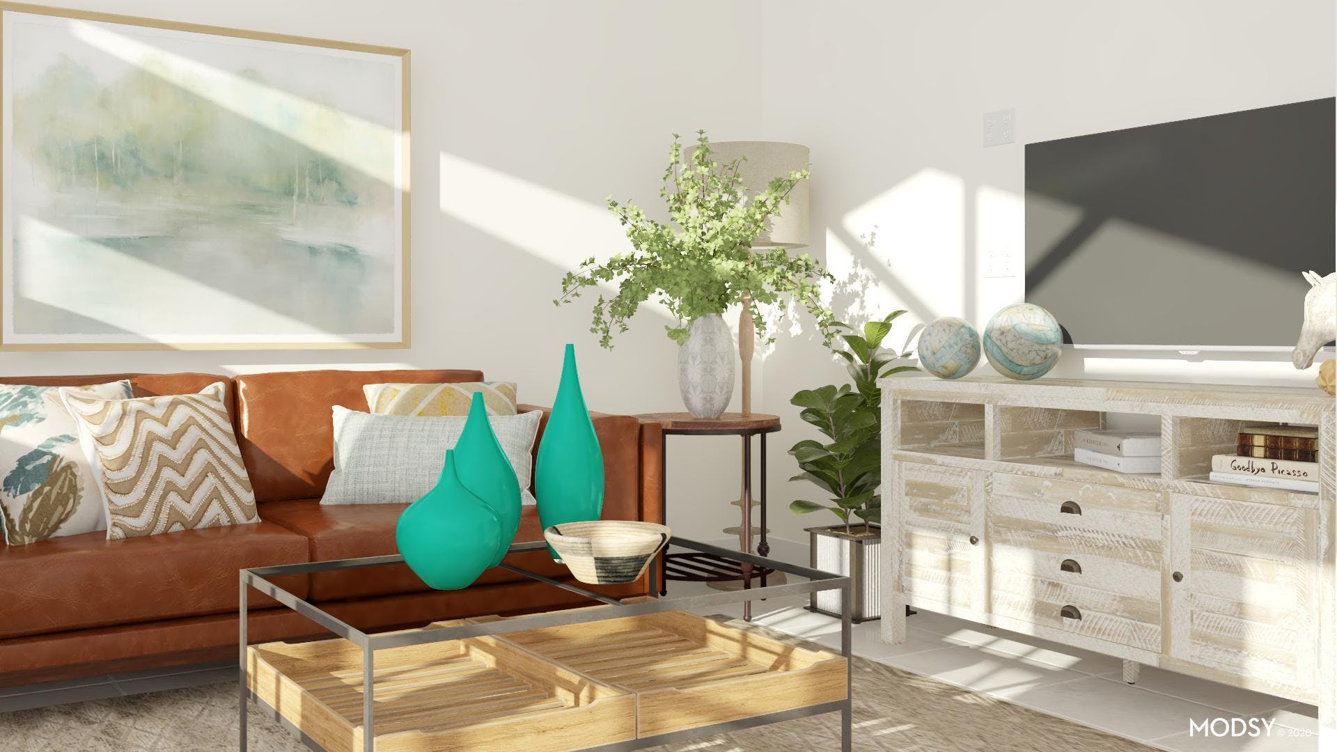 Intentional Earth Tones: Rustic Living Room