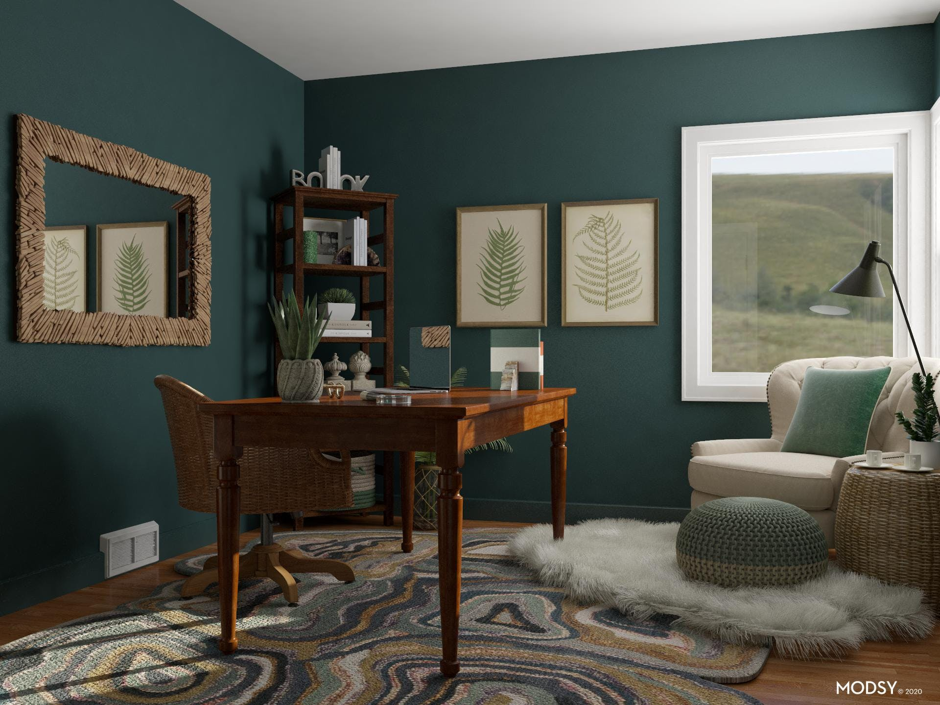 Rustic Office: Green Color Palette