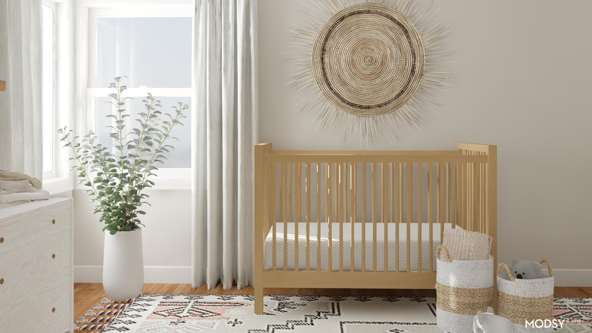 Neutral And Calm: Eclectic Nursery