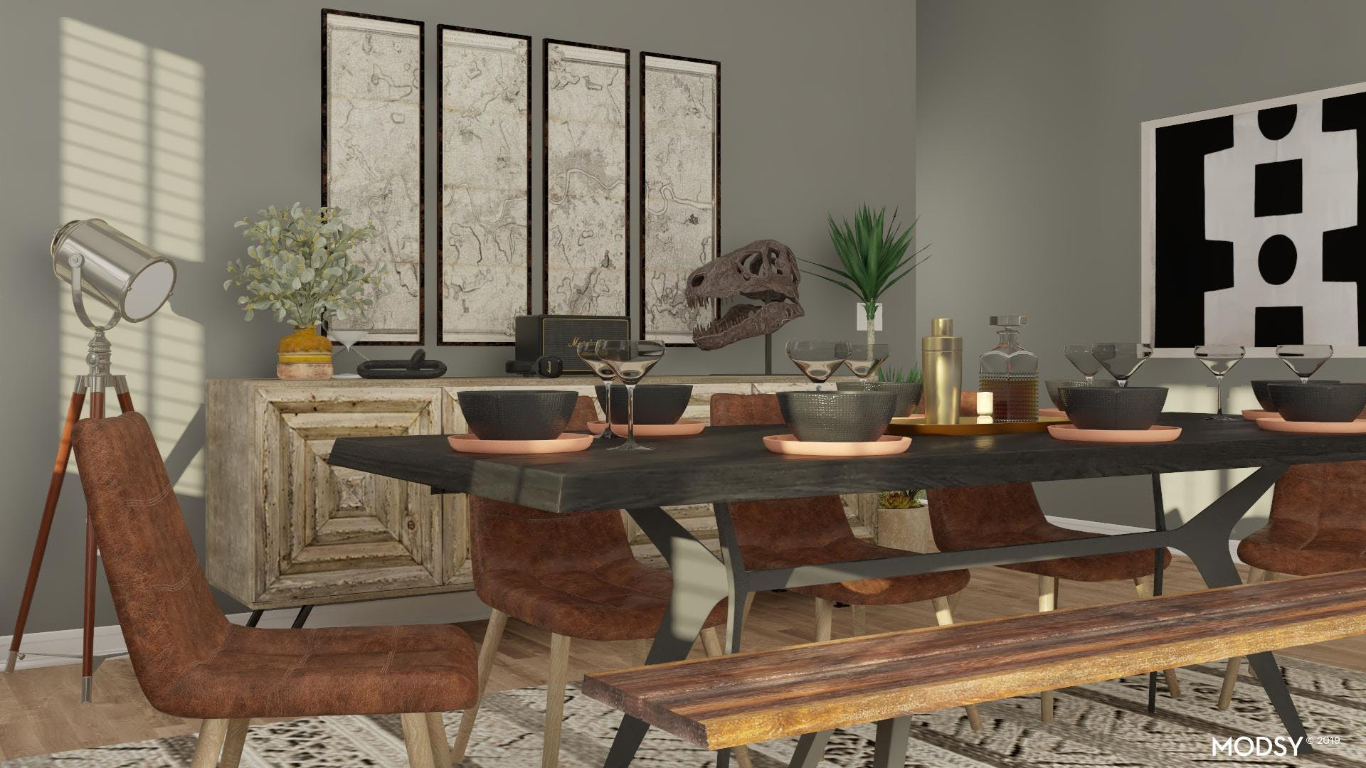 Mixing Seating in a Dining Room