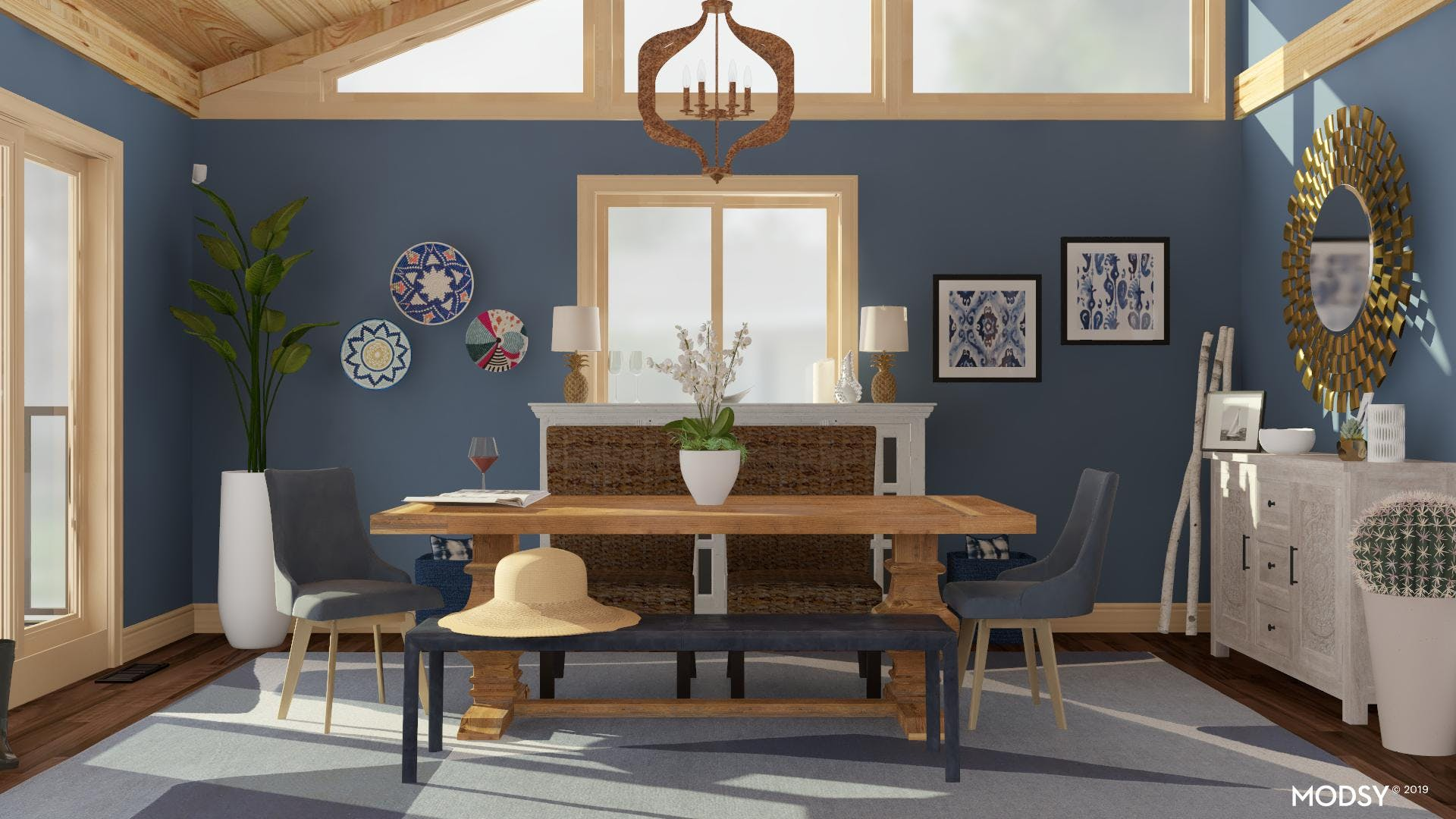 Bench Seating Opens the Dining Room
