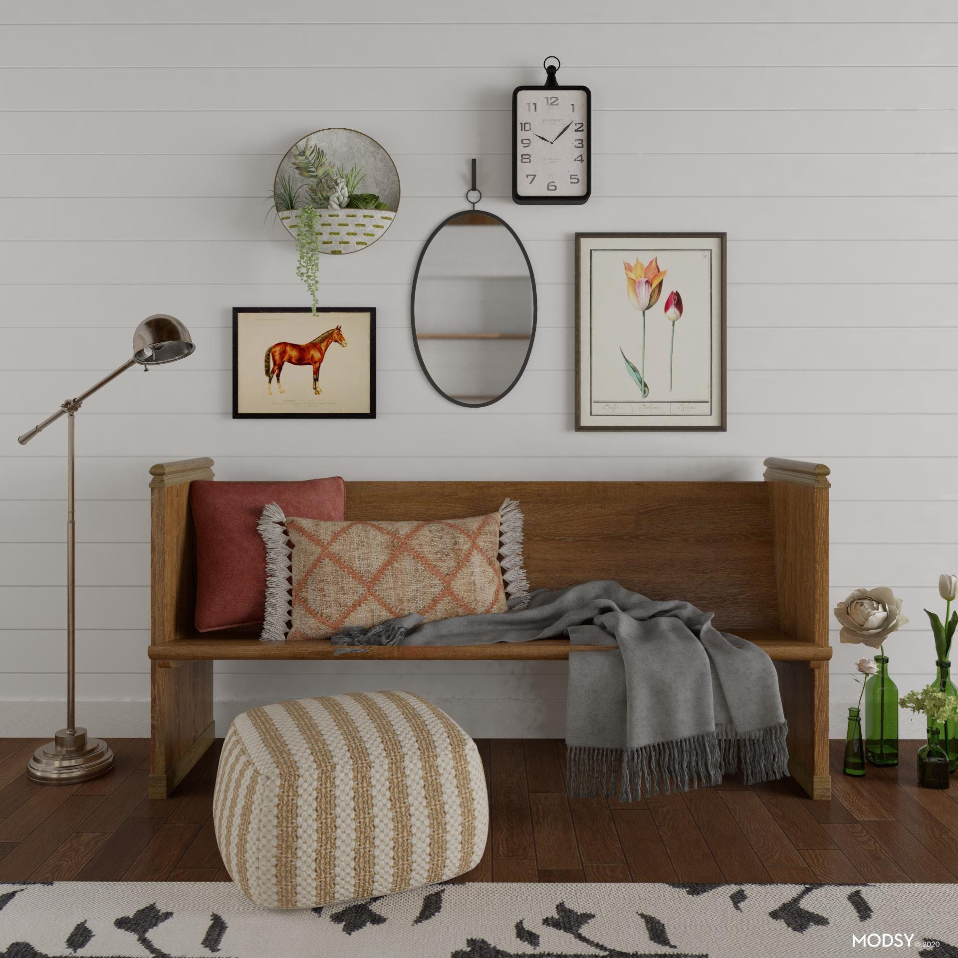 Sweet Gallery Wall with Country Farmhouse Charm