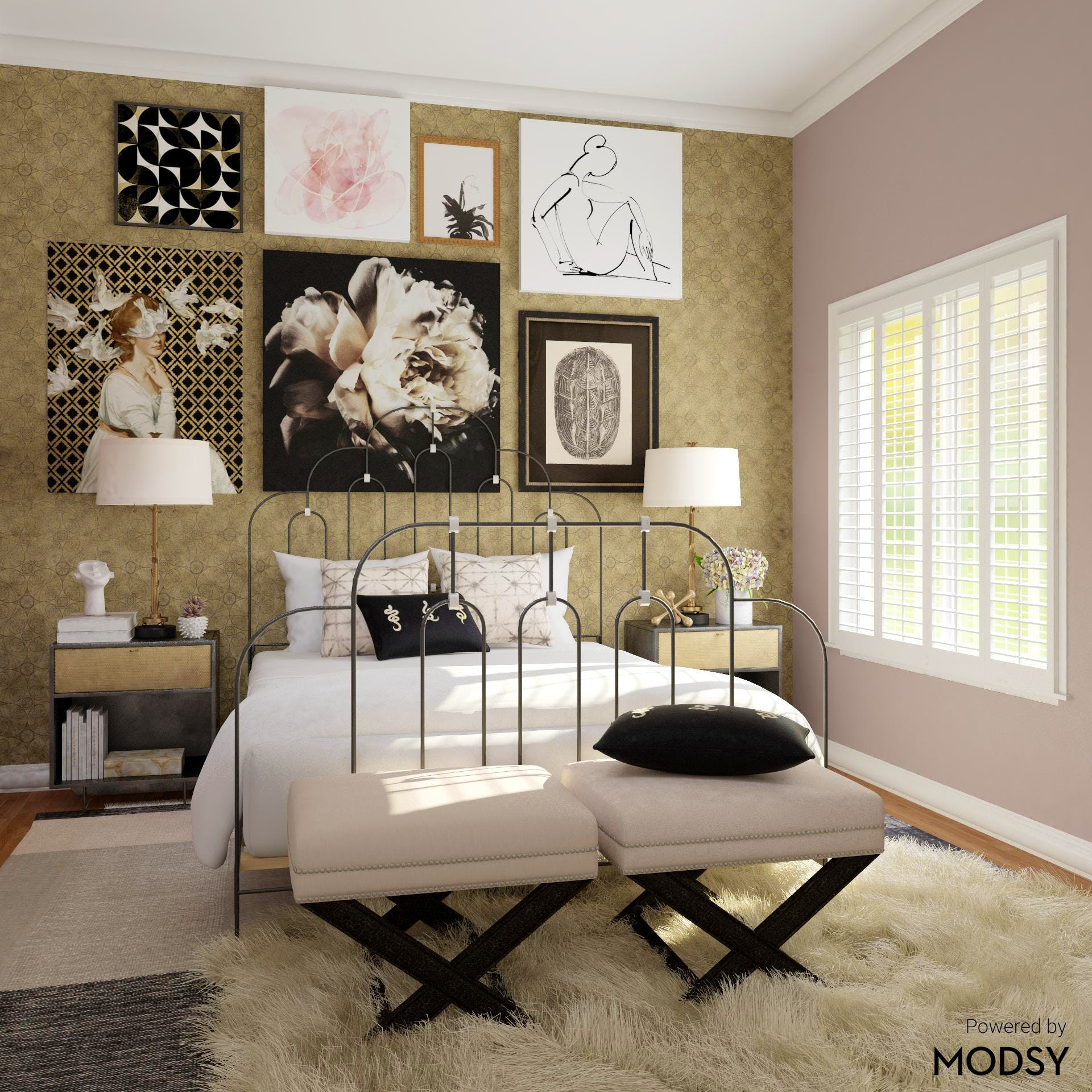 Wallpaper Dreams: Eclectic Master Bedroom