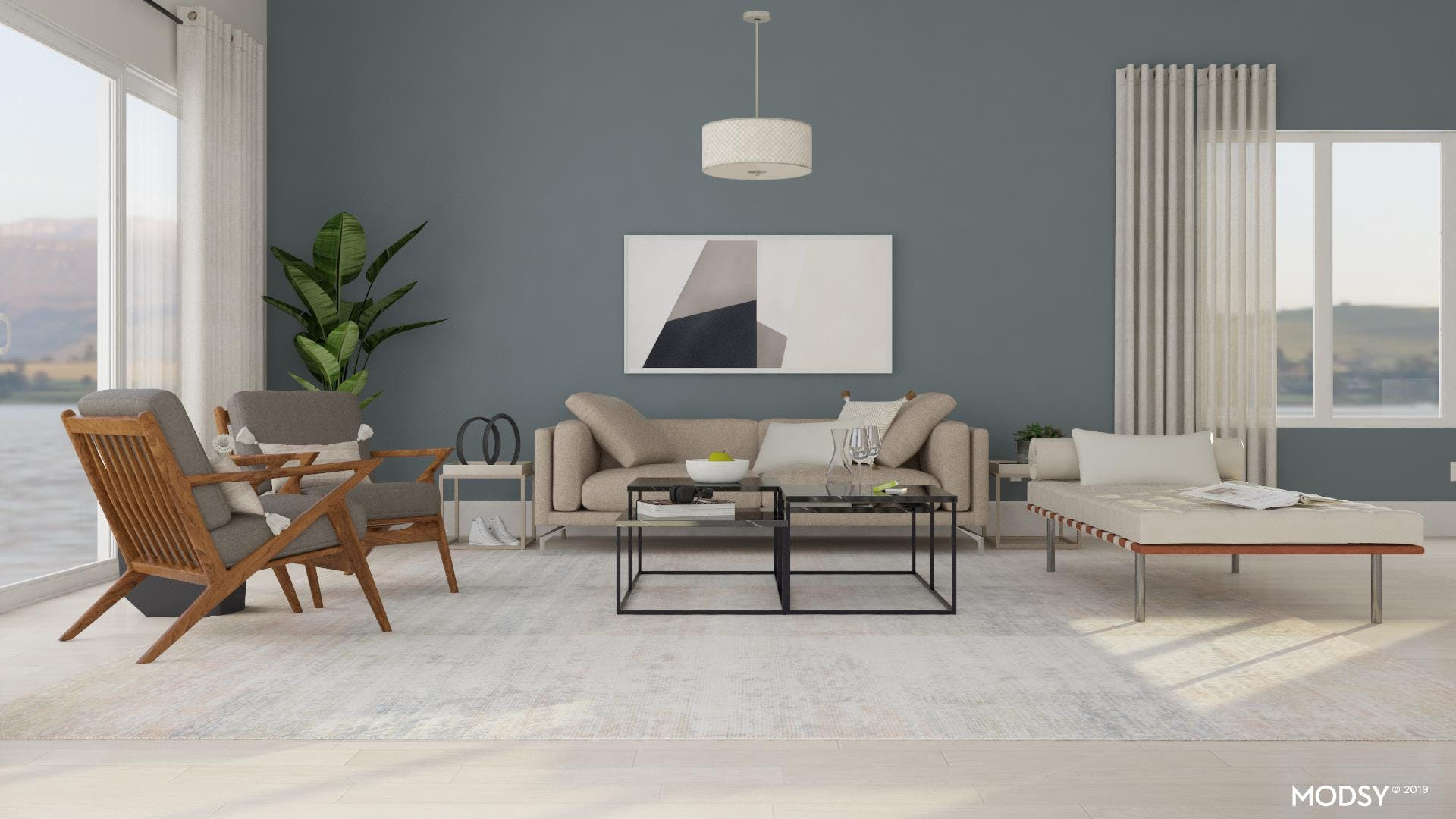 Contrasting Neutrals Add Depth To This Minimal Living Room