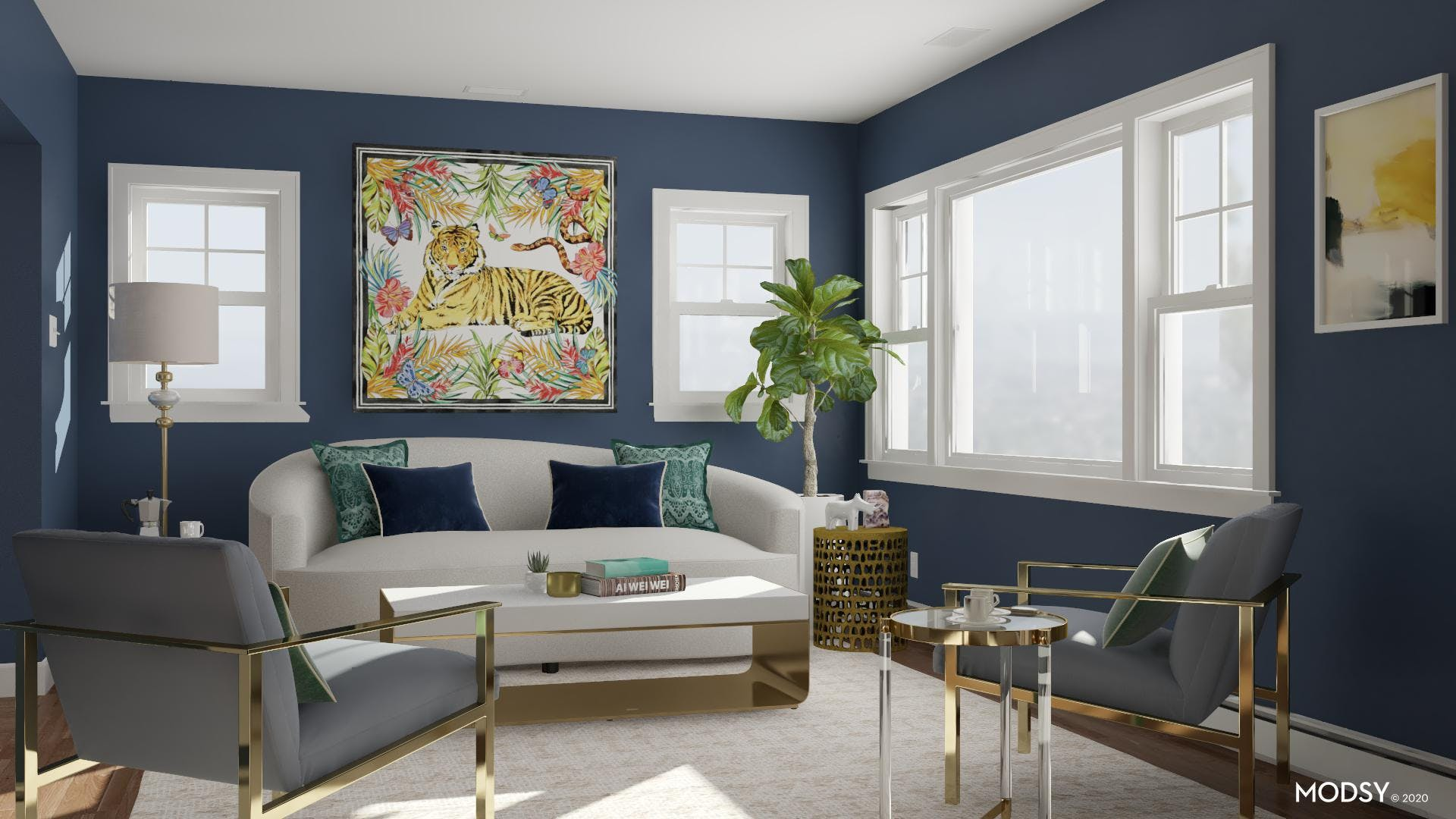 Elegance And Glamour Take Center Stage In This Living Room