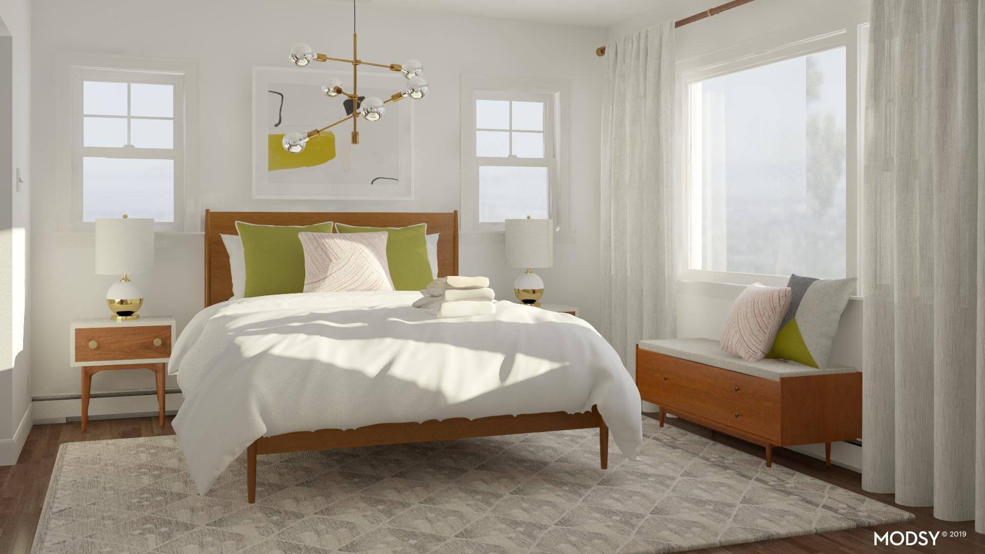 A Bright And Modern Bedroom
