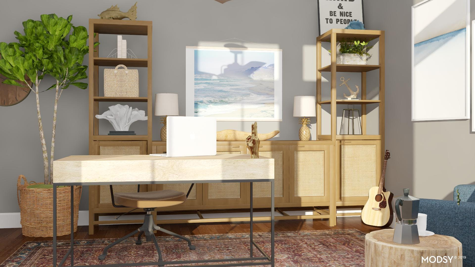 How to Complete the Coastal Office Look