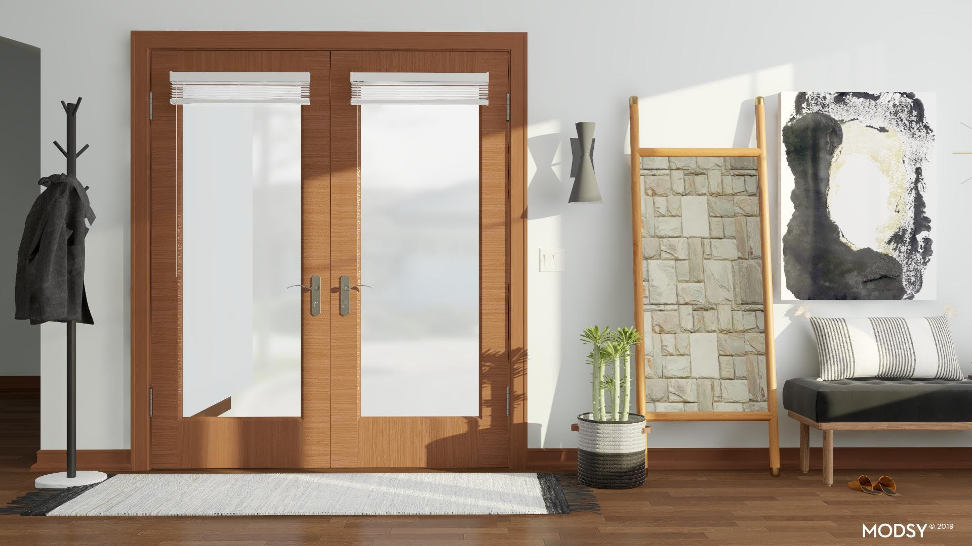 Clean Lines: Modern Entry