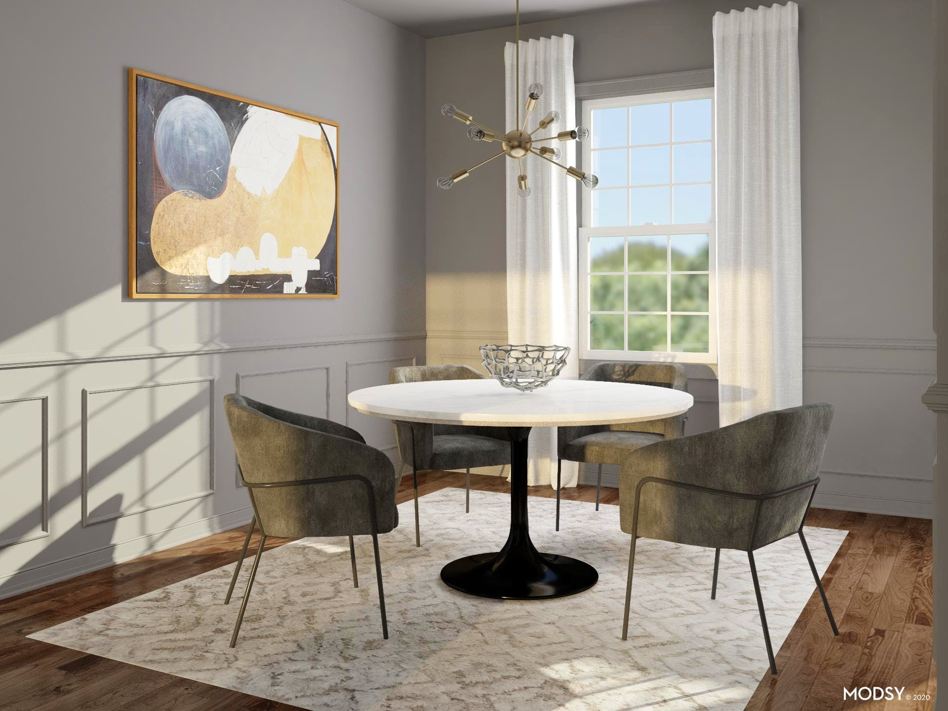 Stylish and Elevated Small Dining Room