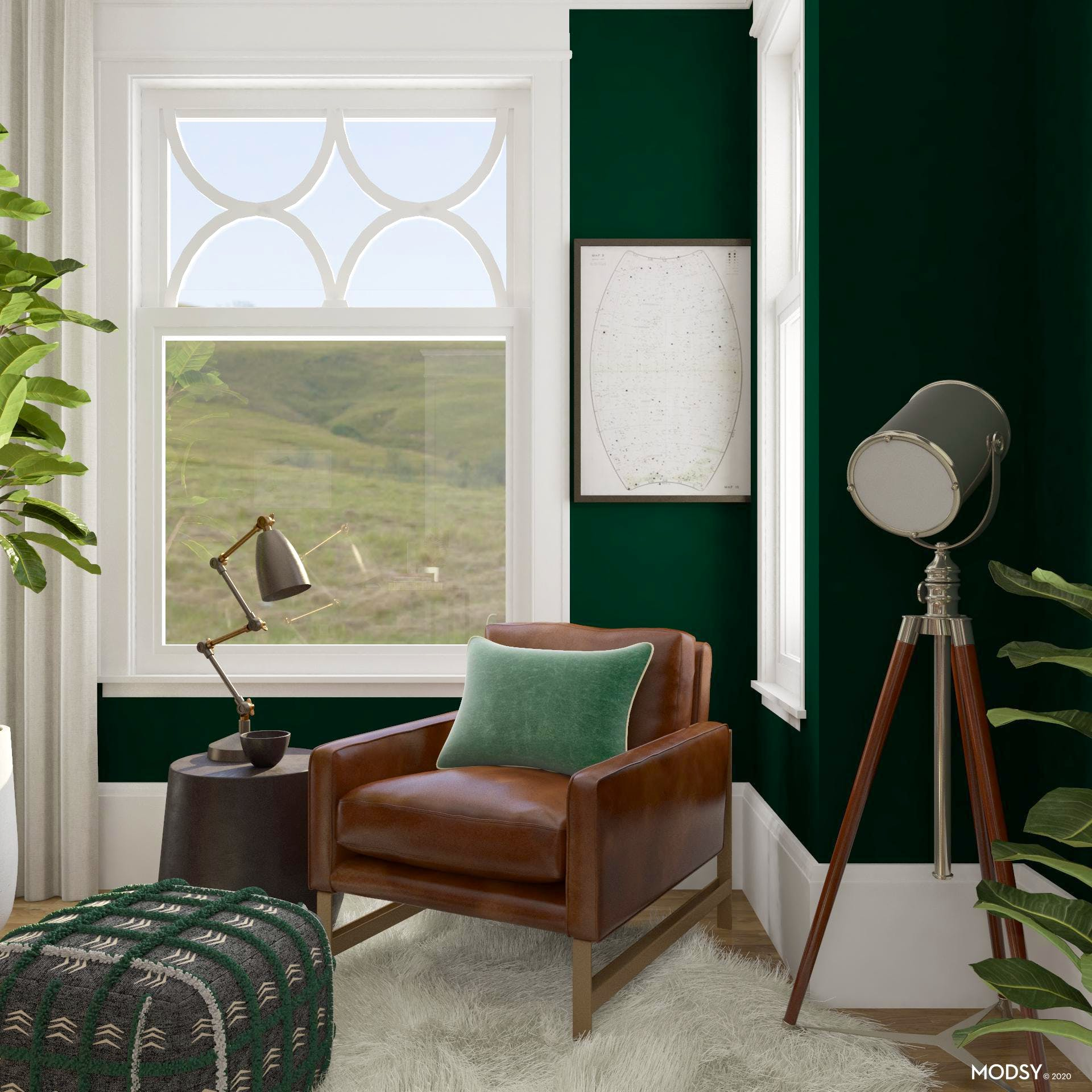 Green Home Office: Cozy Nook