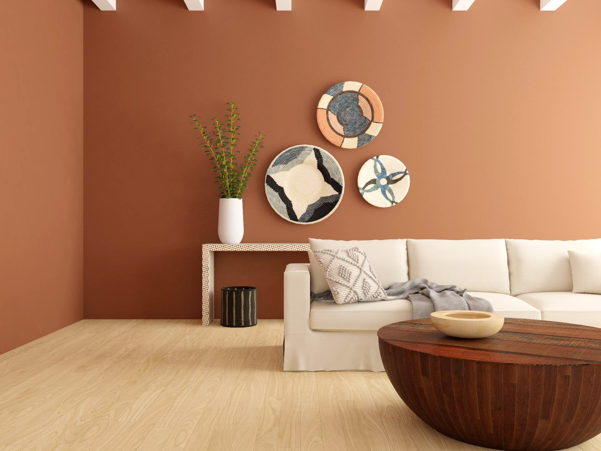 Contemporary Living room in Rich Terracotta