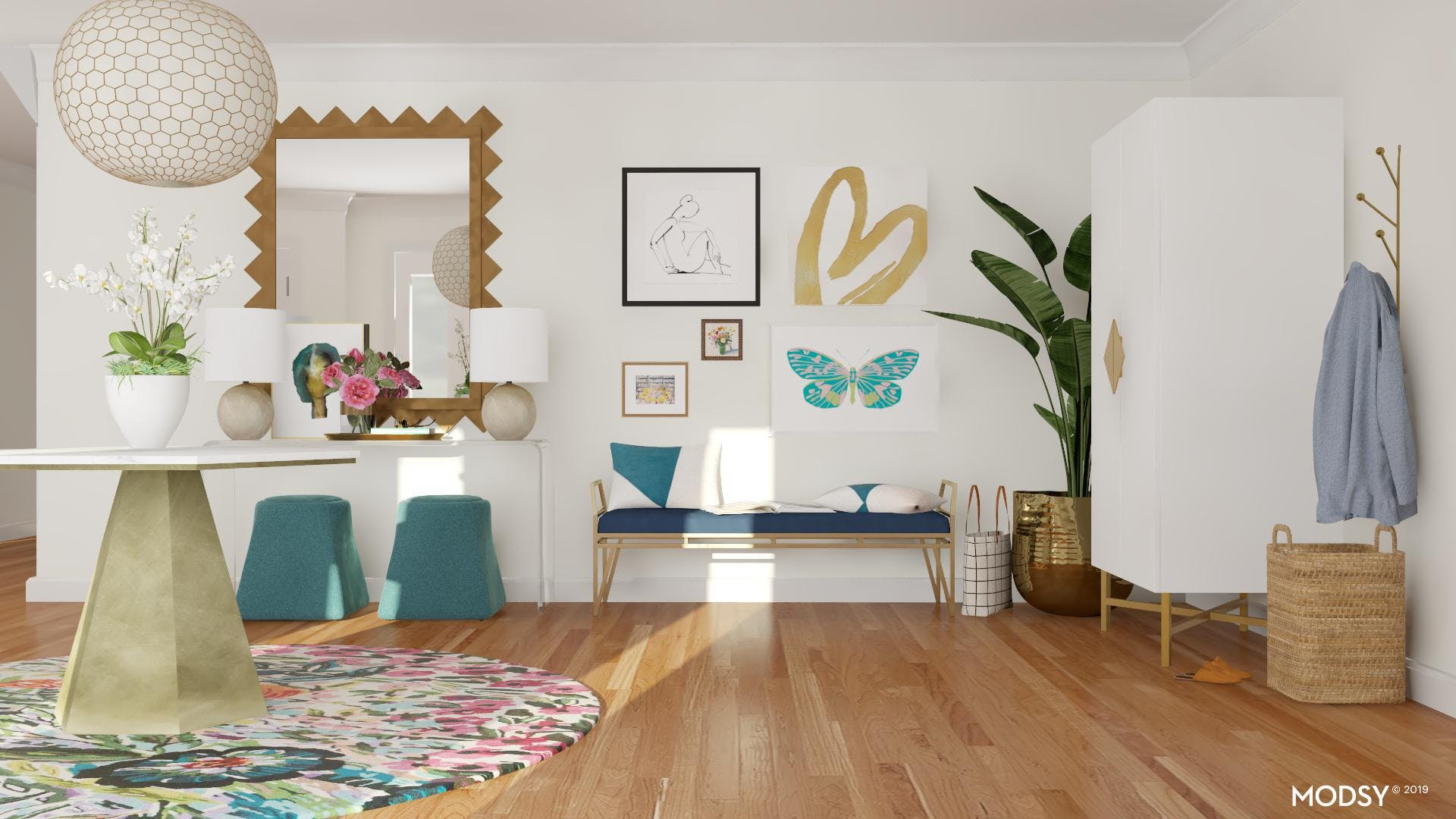 Bright Room With Colorful Accents