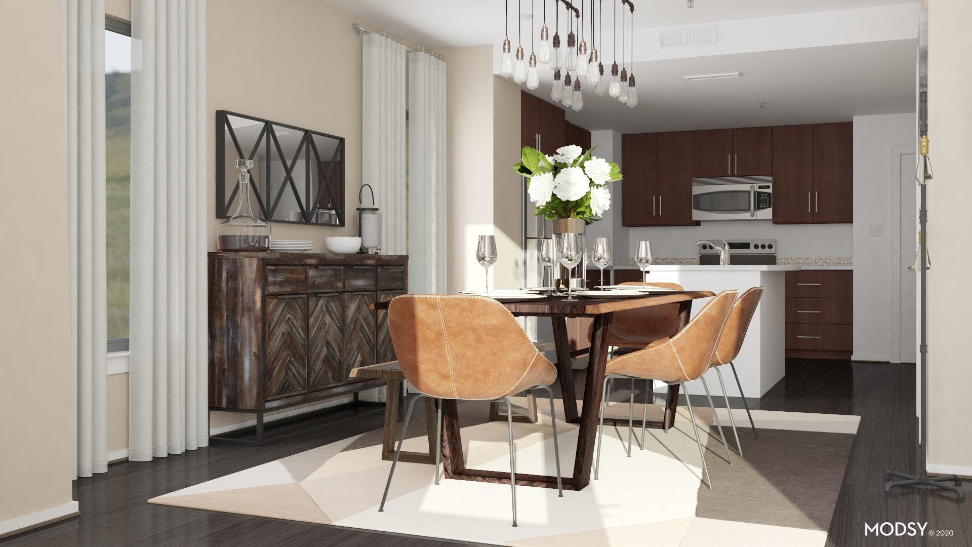 Neutral Inviting: Industrial Dining Room