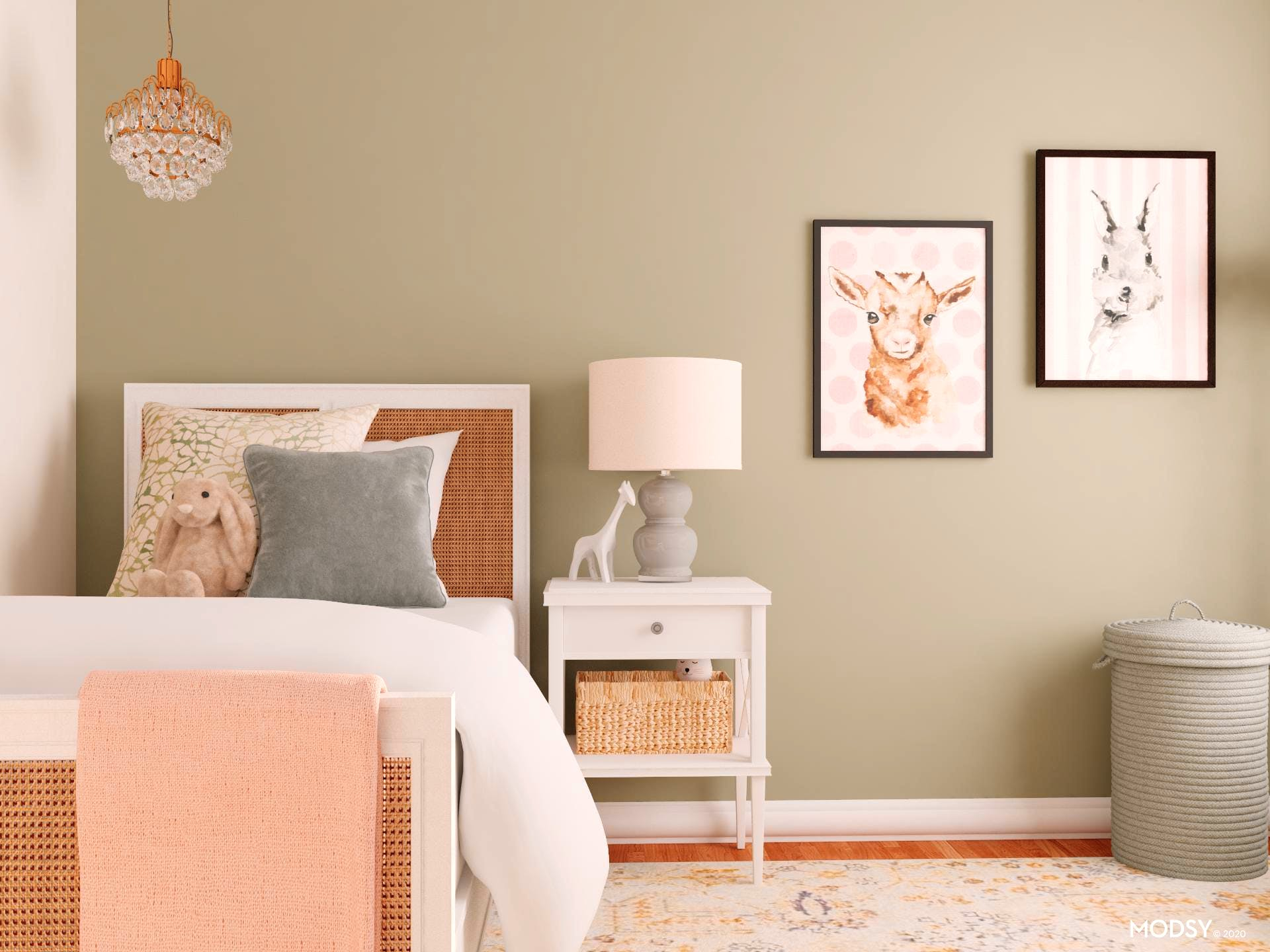 Soft And Sage: Traditional Bedroom Design
