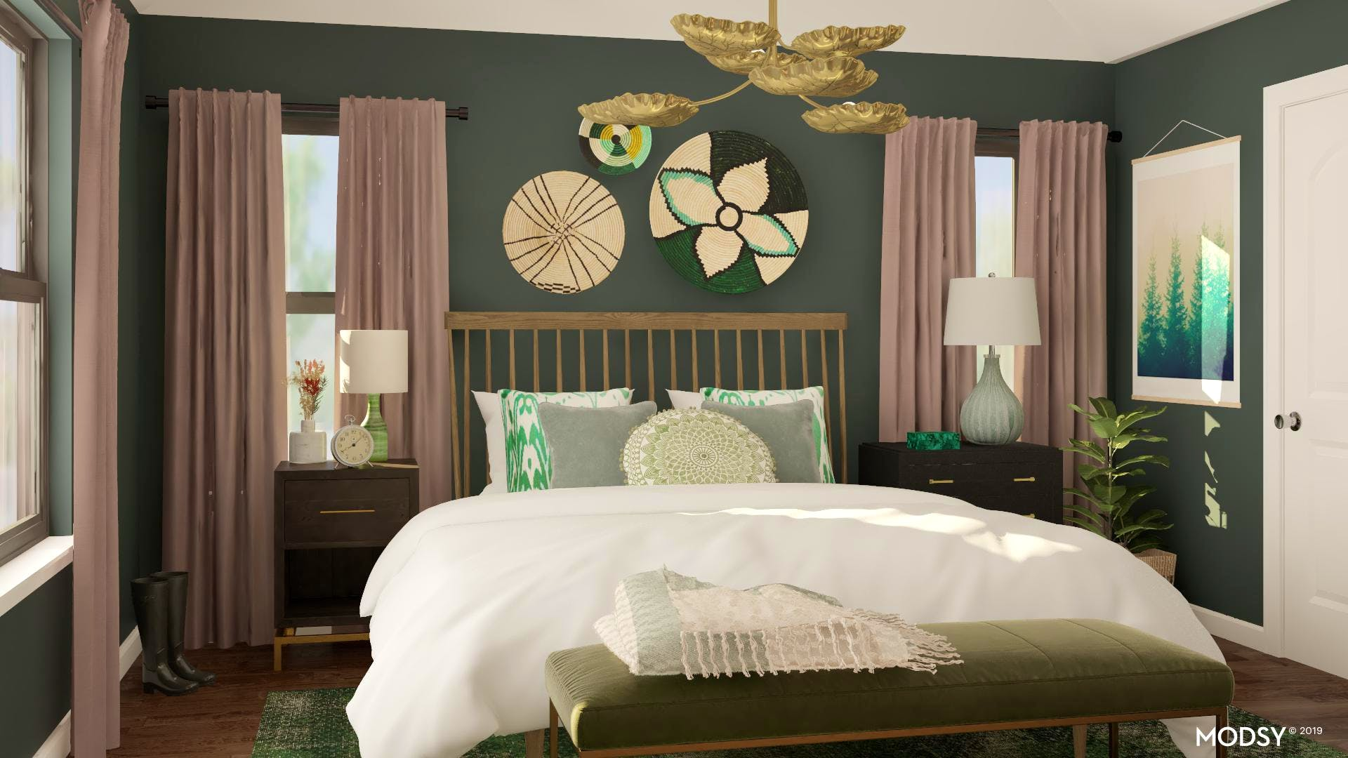 Harmonious And Eclectic Master Bedroom | Eclectic-Style ...