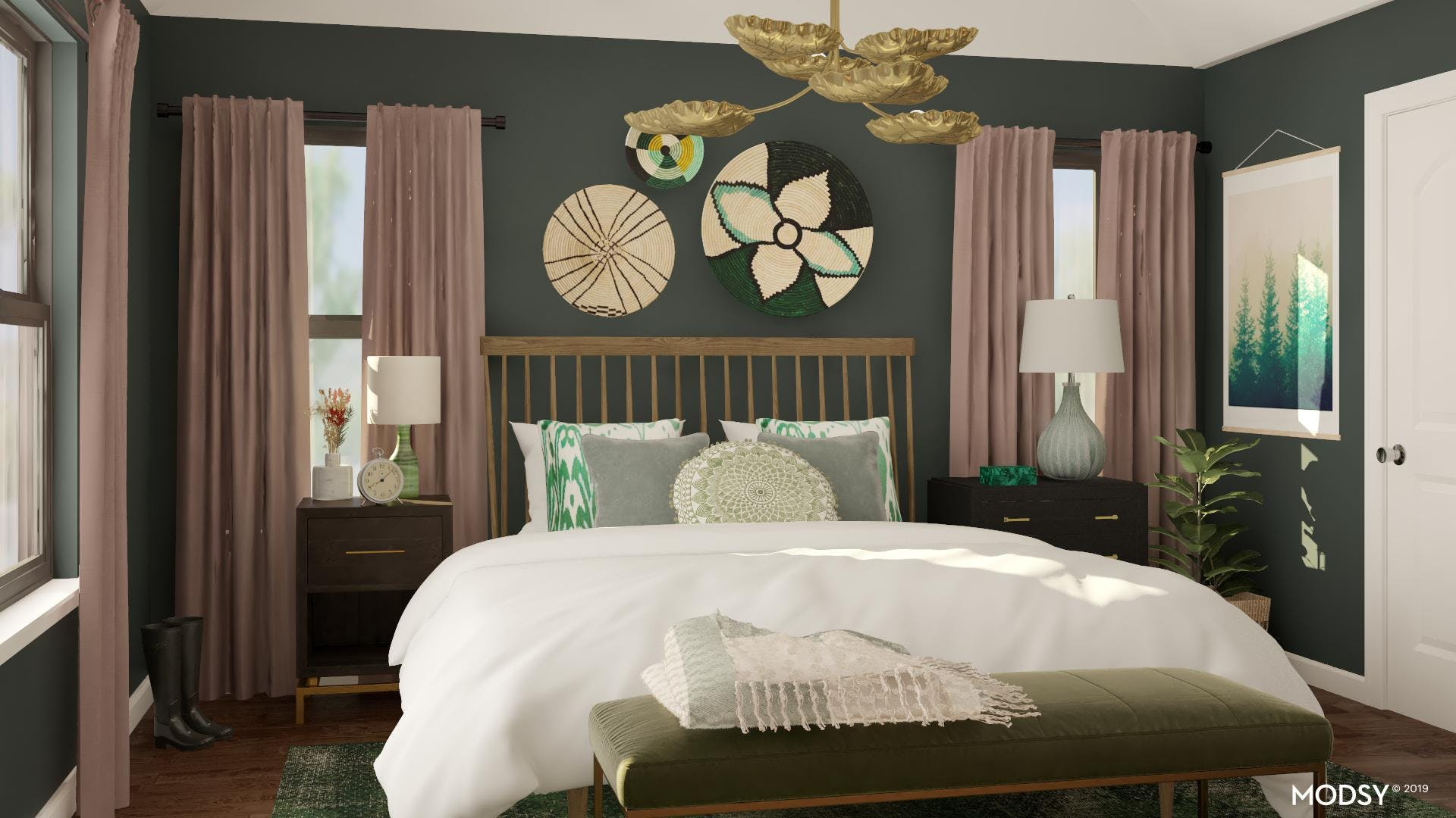 Harmonious And Eclectic Master Bedroom