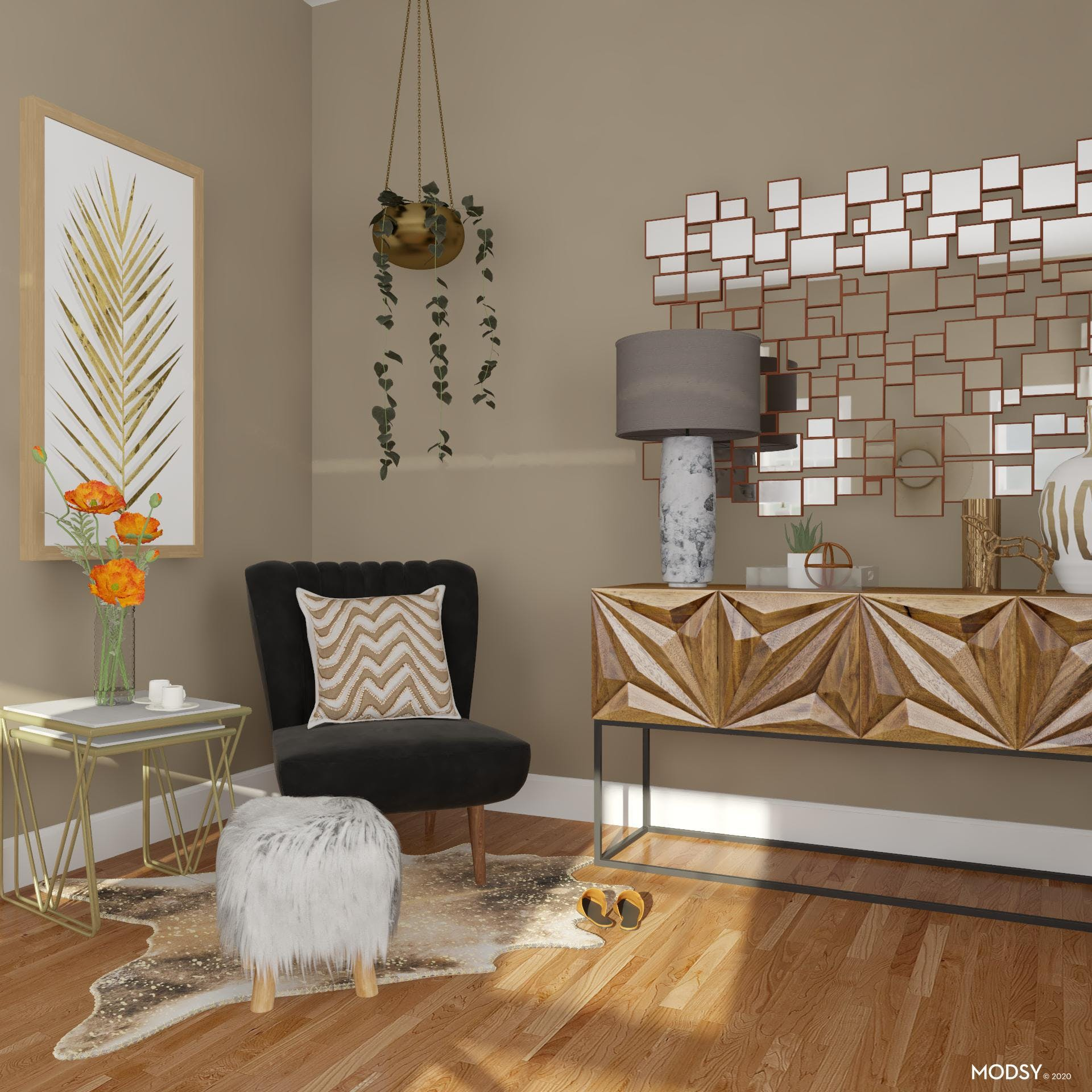 Glam Accented Nook