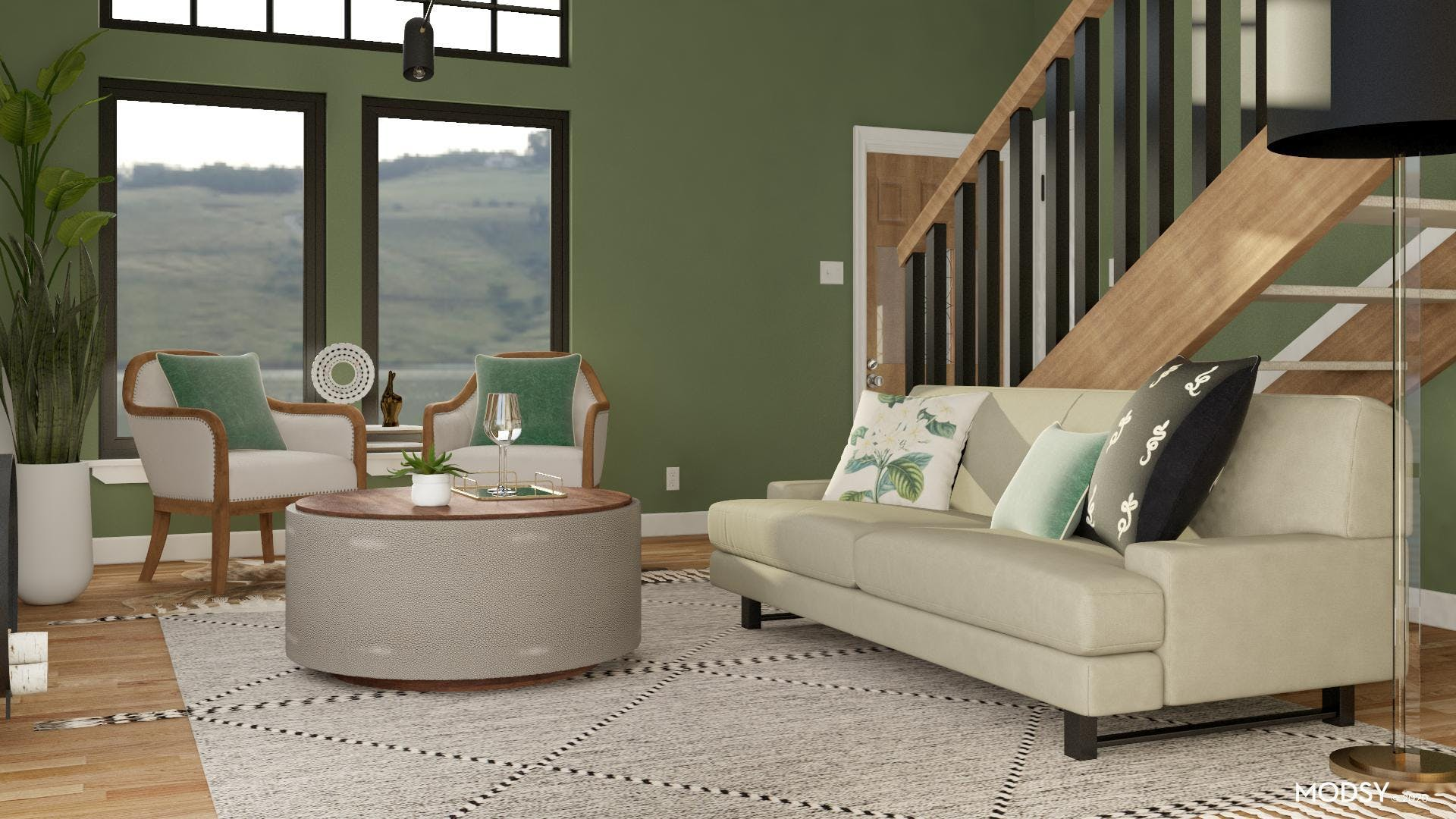 Go Green In Transitional Style