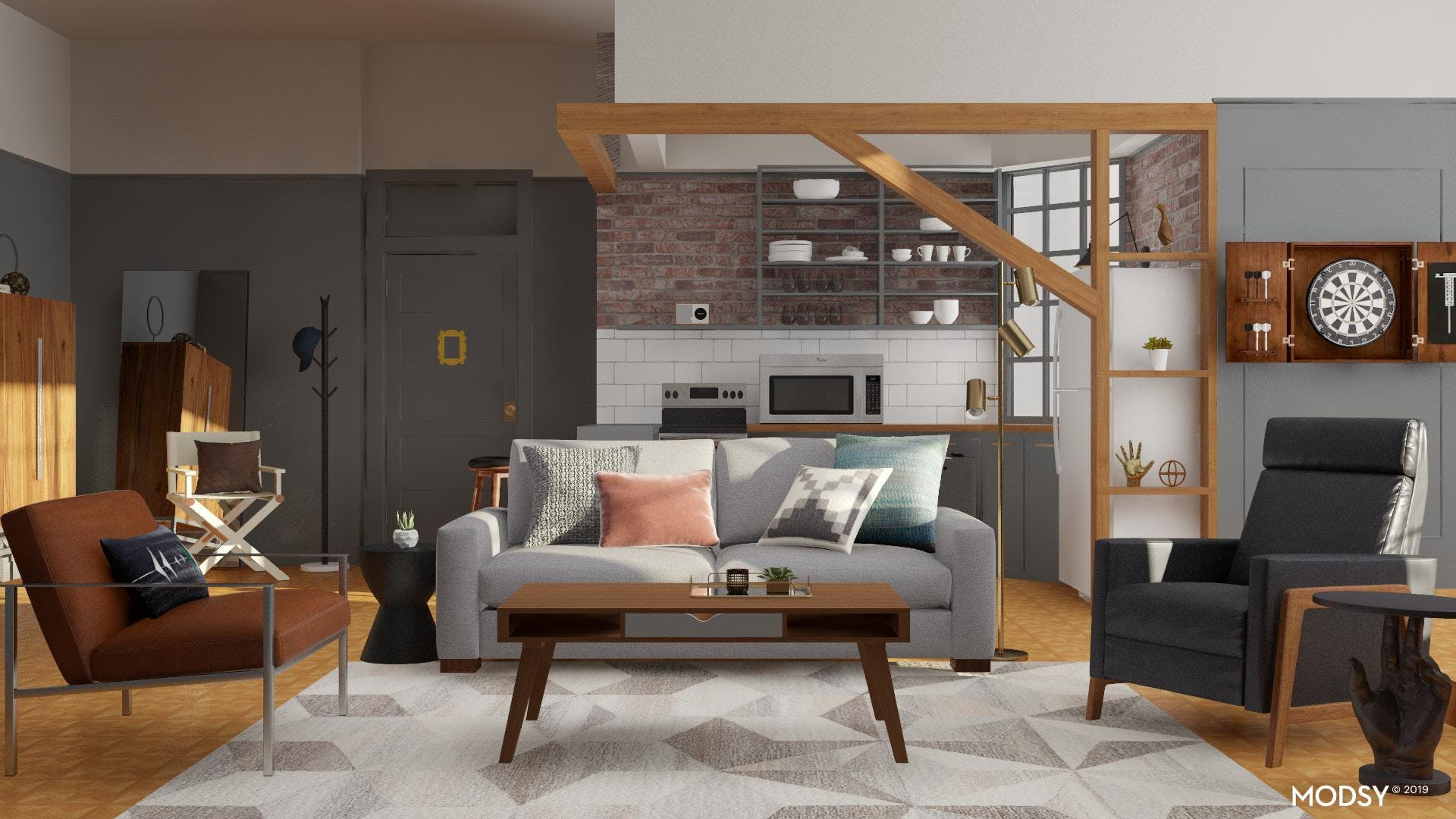 Modern Bachelor Pad With An Industrial Touch